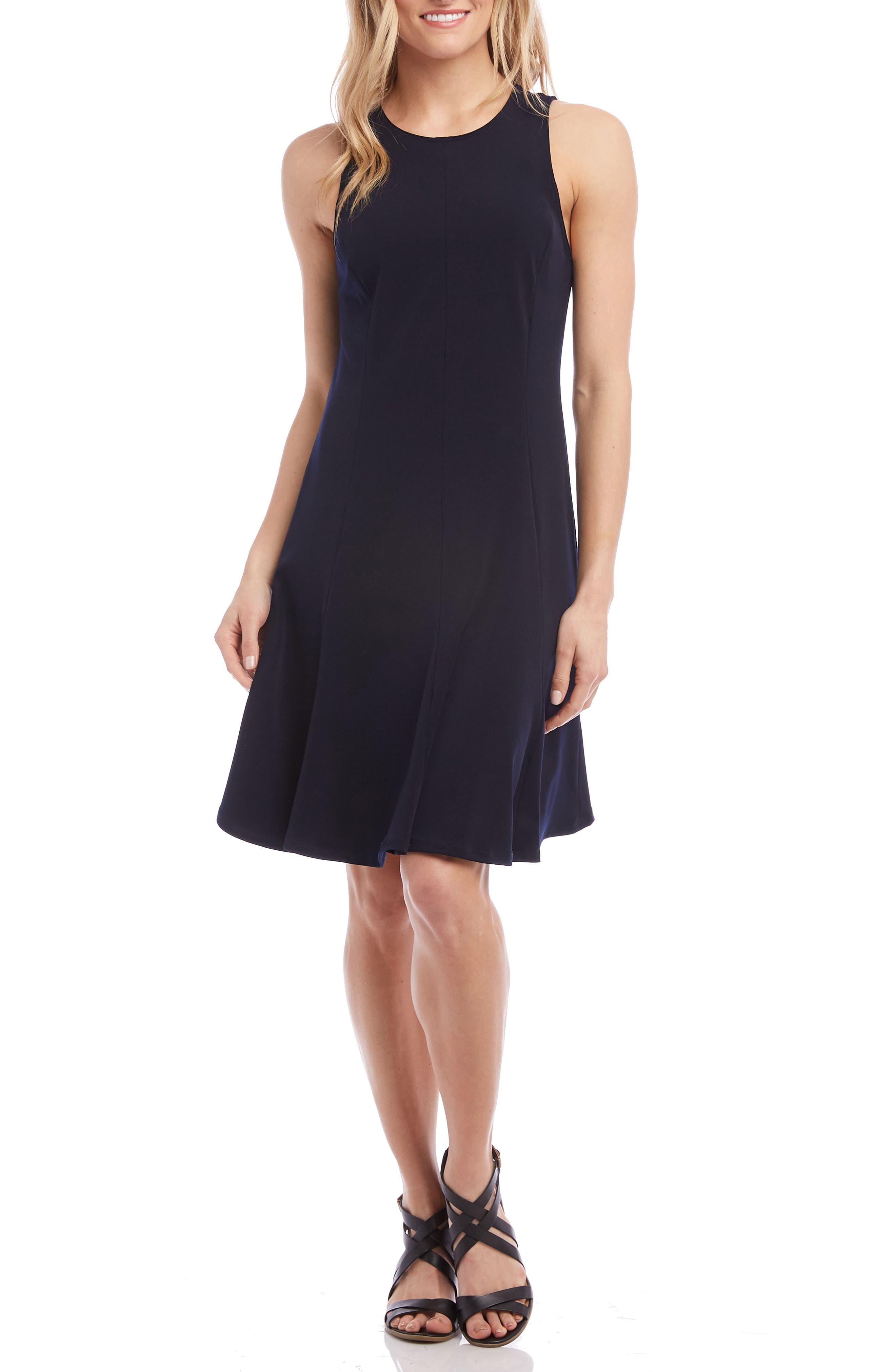 Karen Kane Sleeveless A-Line Dress, Blue