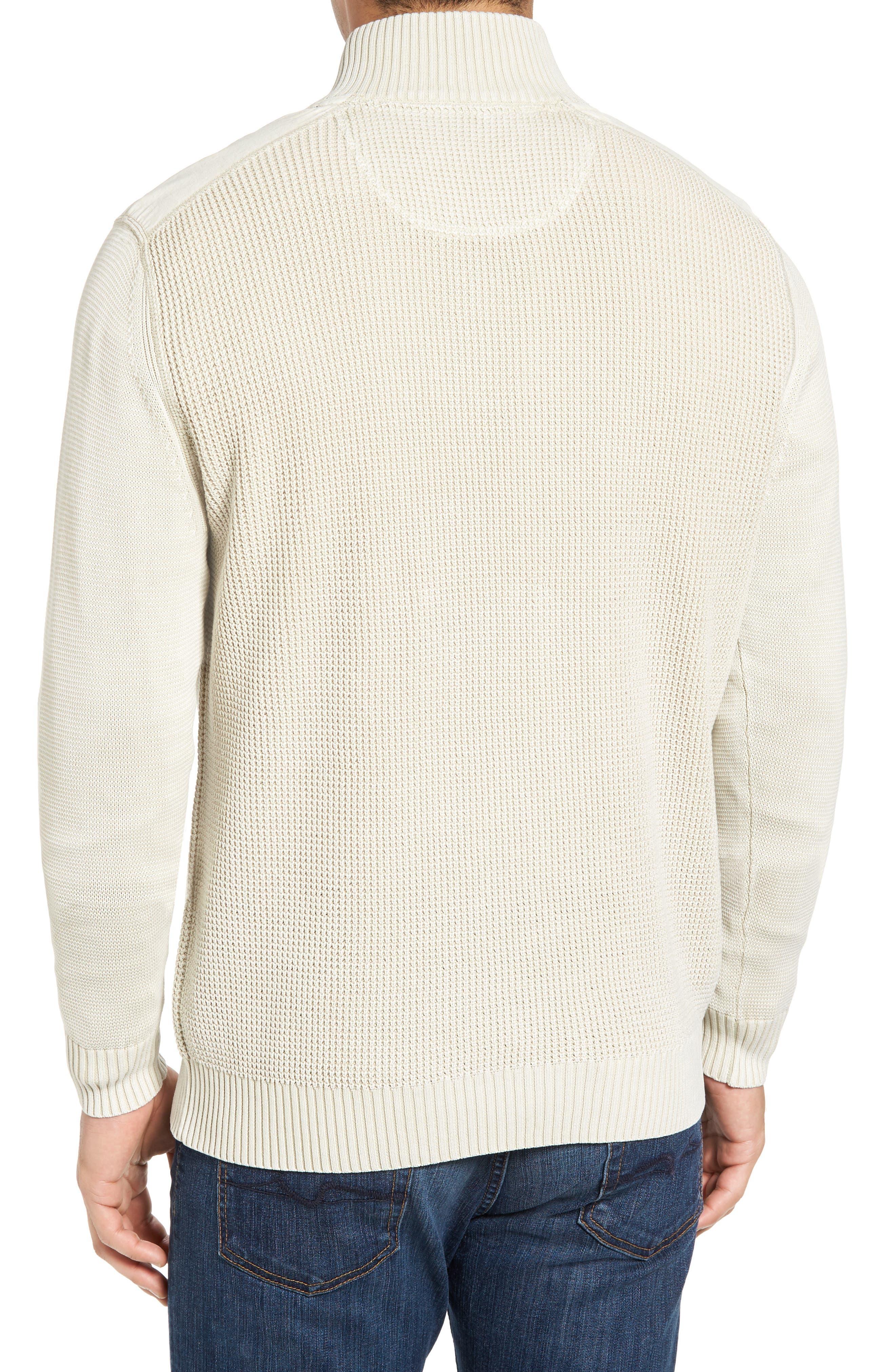'Coastal Shores' Quarter Zip Sweater,                             Alternate thumbnail 16, color,