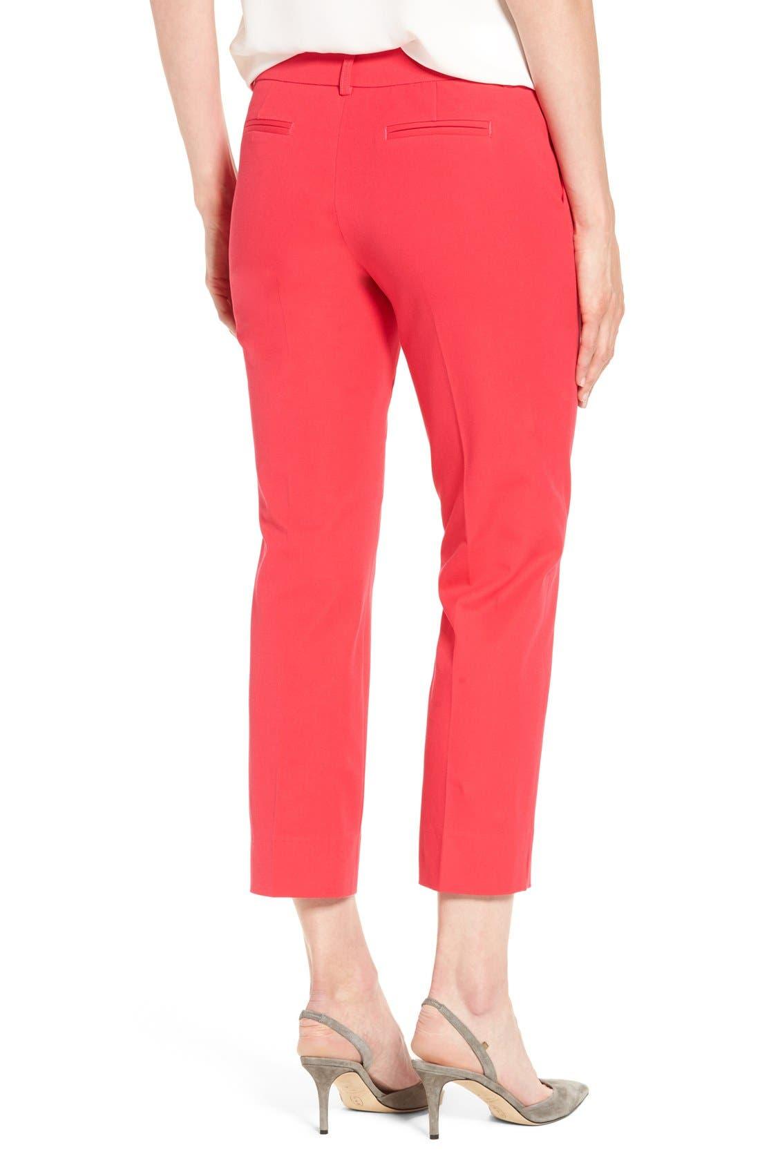 Crop Stretch Cotton Pants,                             Alternate thumbnail 61, color,