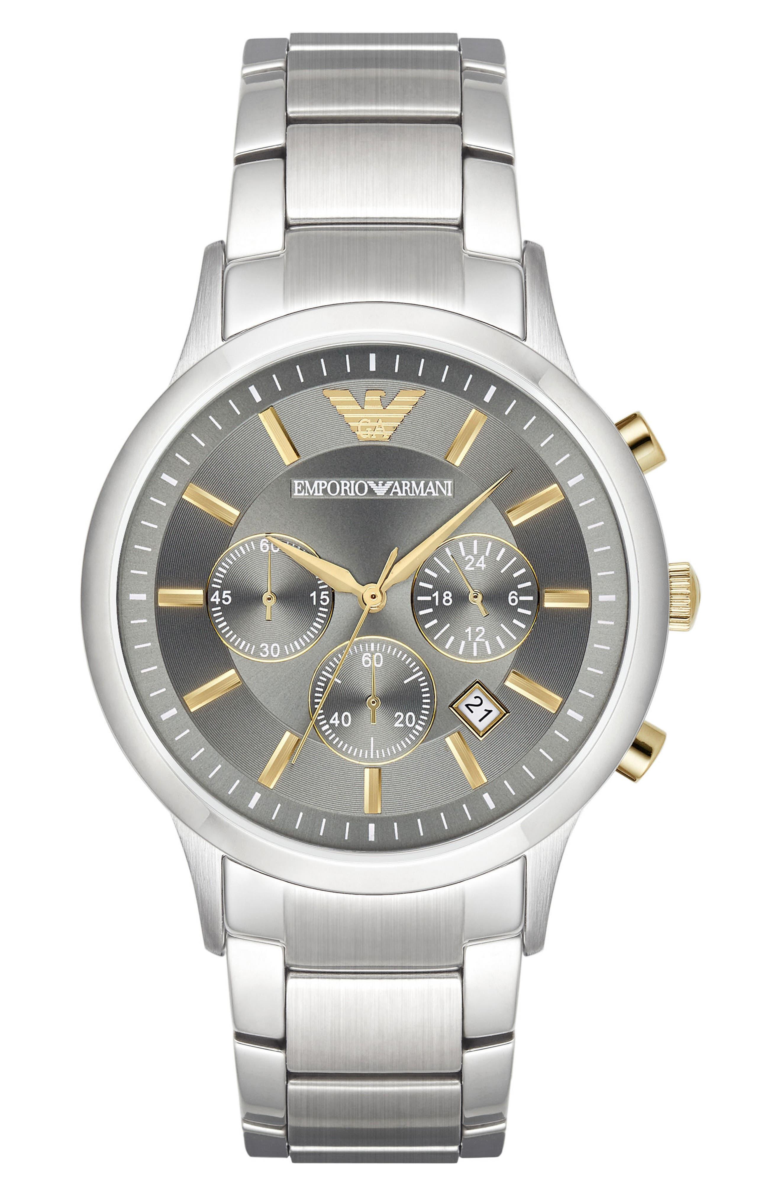 Chronograph Bracelet Watch, 43mm,                             Main thumbnail 1, color,                             040