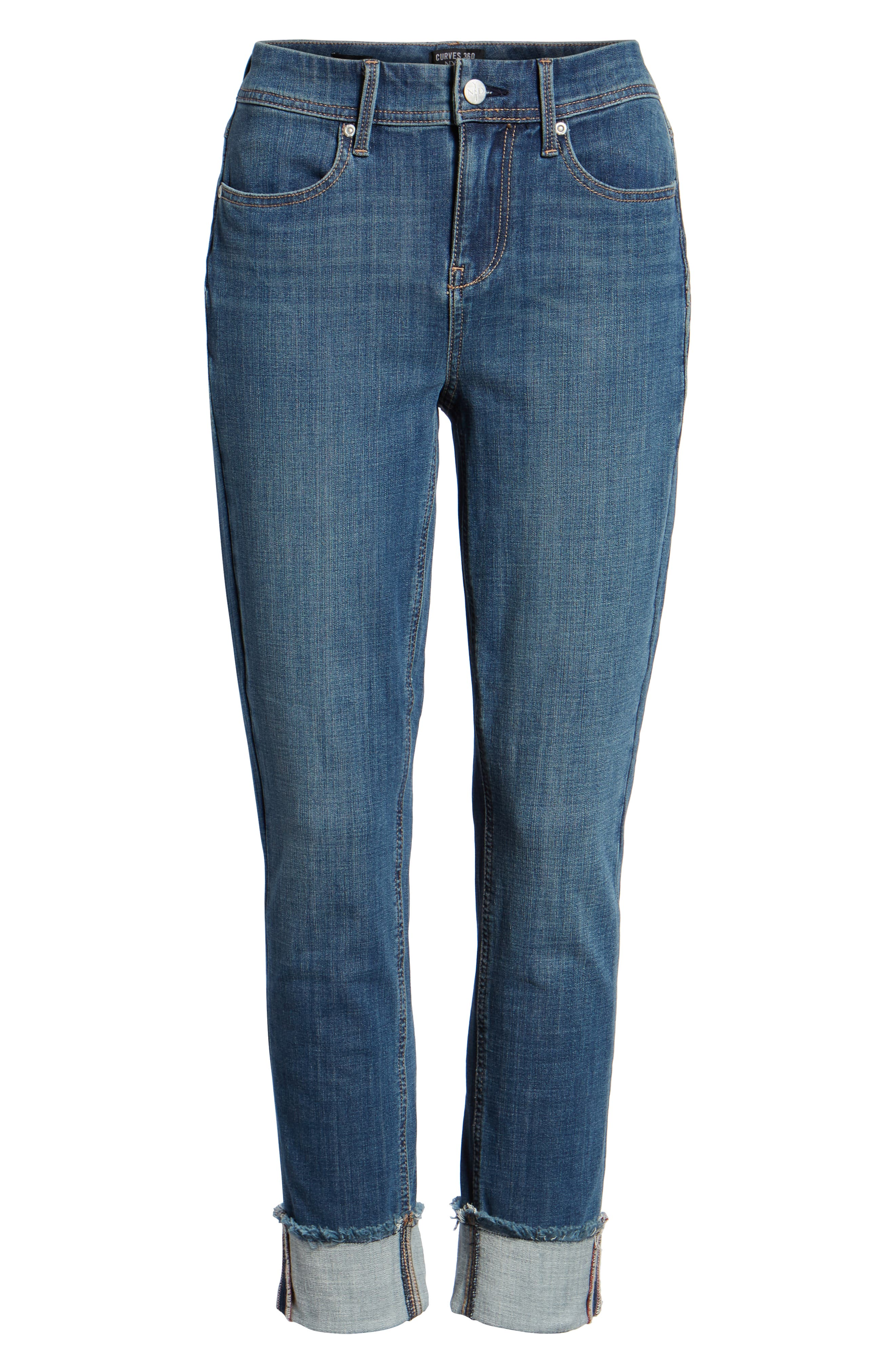 CURVES 360 BY NYDJ,                             Boost Raw Cuff Skinny Jeans,                             Alternate thumbnail 7, color,                             452