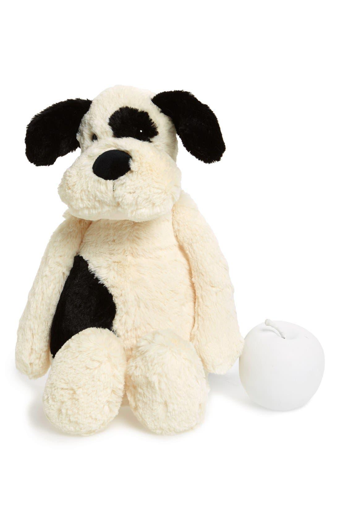 'Large Bashful Puppy' Stuffed Animal,                             Main thumbnail 1, color,                             IVORY