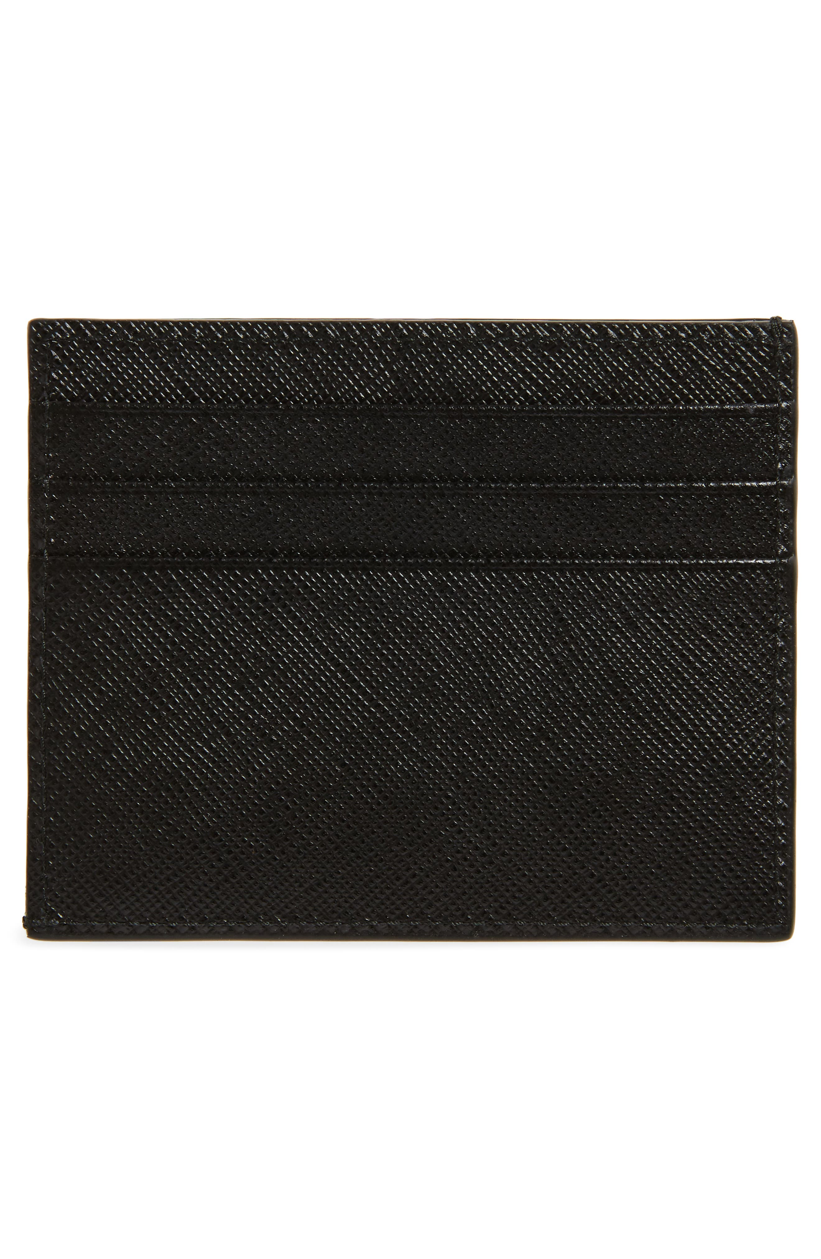 Saffiano Leather Card Case,                             Alternate thumbnail 3, color,