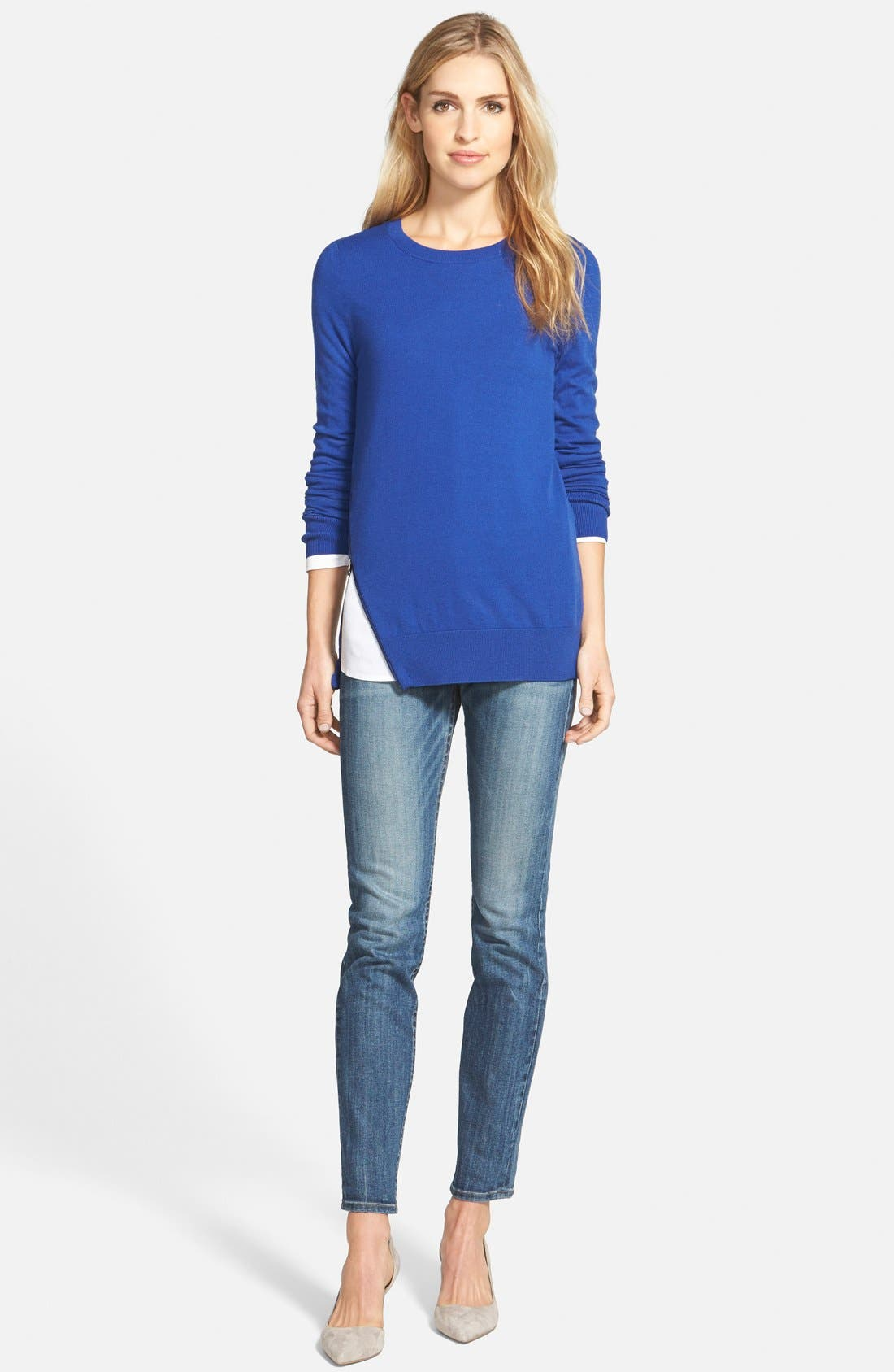 Mixed Media V-Neck Tunic,                             Alternate thumbnail 178, color,