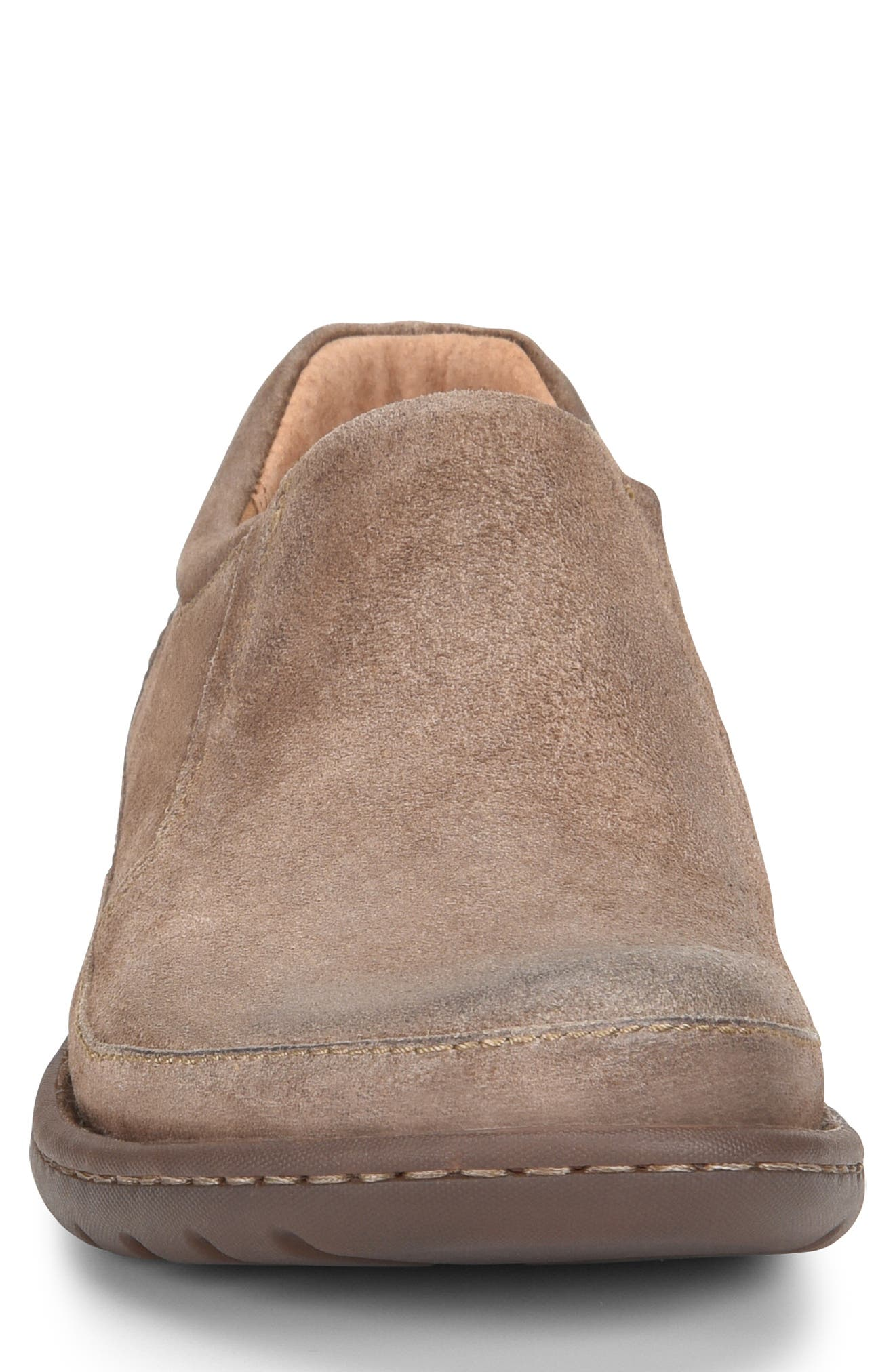 Nigel Slip-On,                             Alternate thumbnail 4, color,                             TAUPE LEATHER