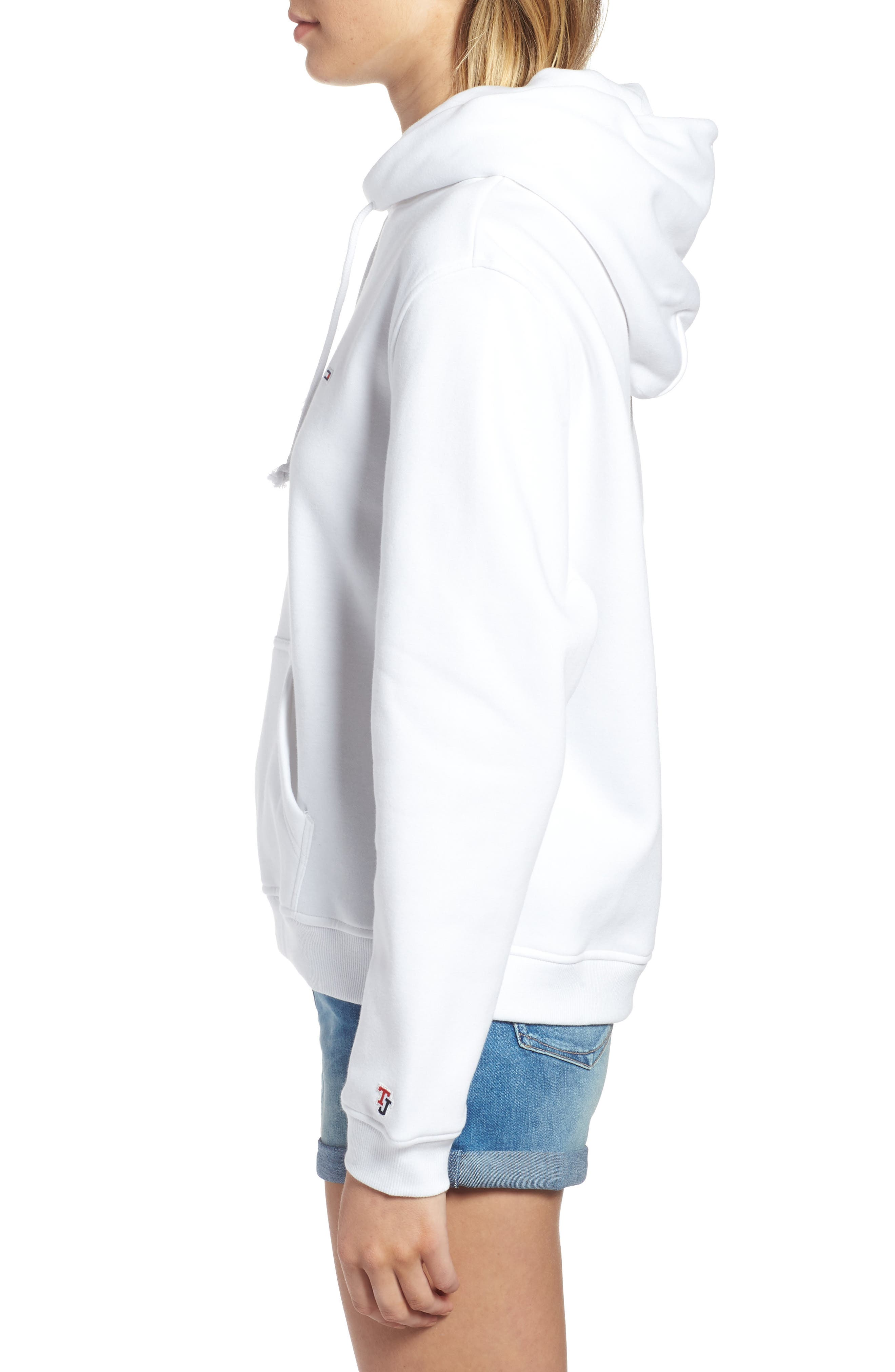 TJW Tommy Classics Hoodie,                             Alternate thumbnail 3, color,                             BRIGHT WHITE