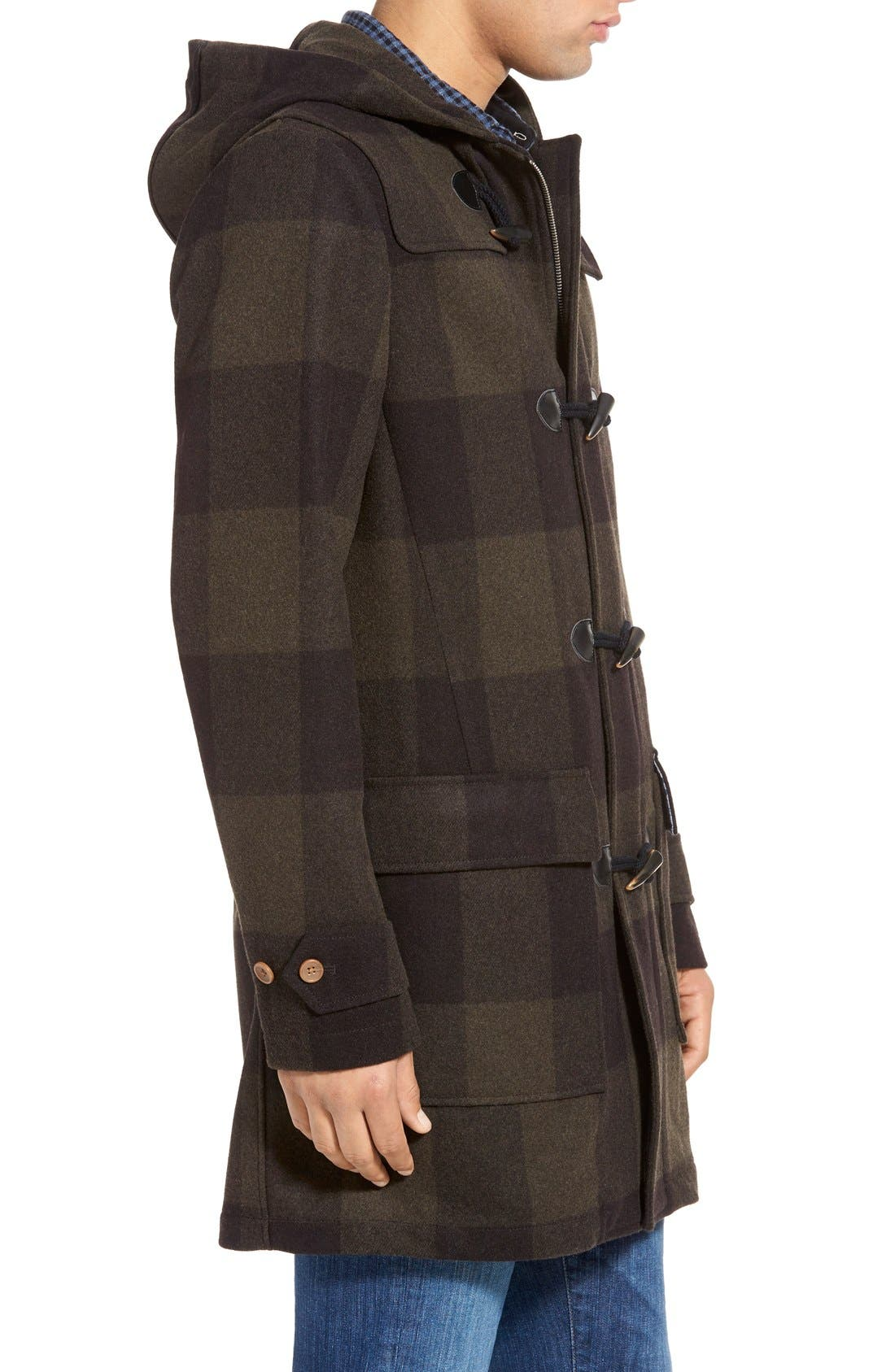 ORIGINAL PENGUIN,                             'Paddington' Wool Blend Duffle Coat,                             Alternate thumbnail 5, color,                             019