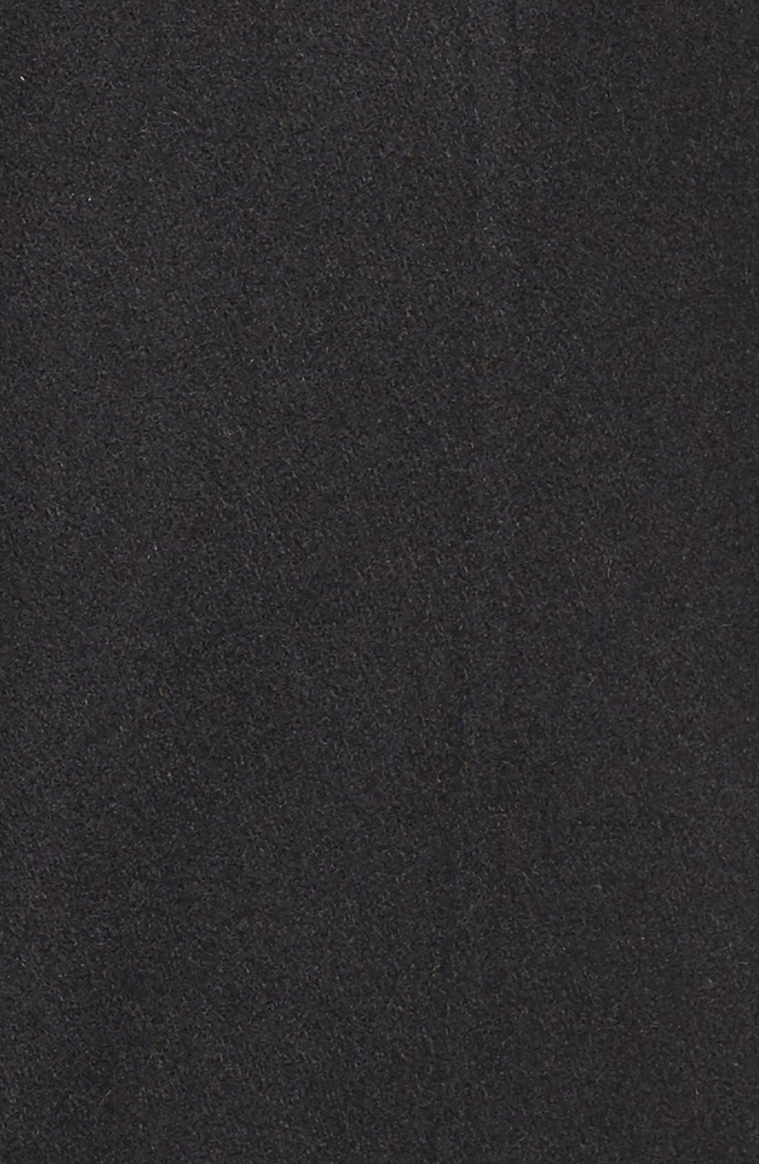 Wool Blend Coat with Faux Fur Trim,                             Alternate thumbnail 5, color,                             001
