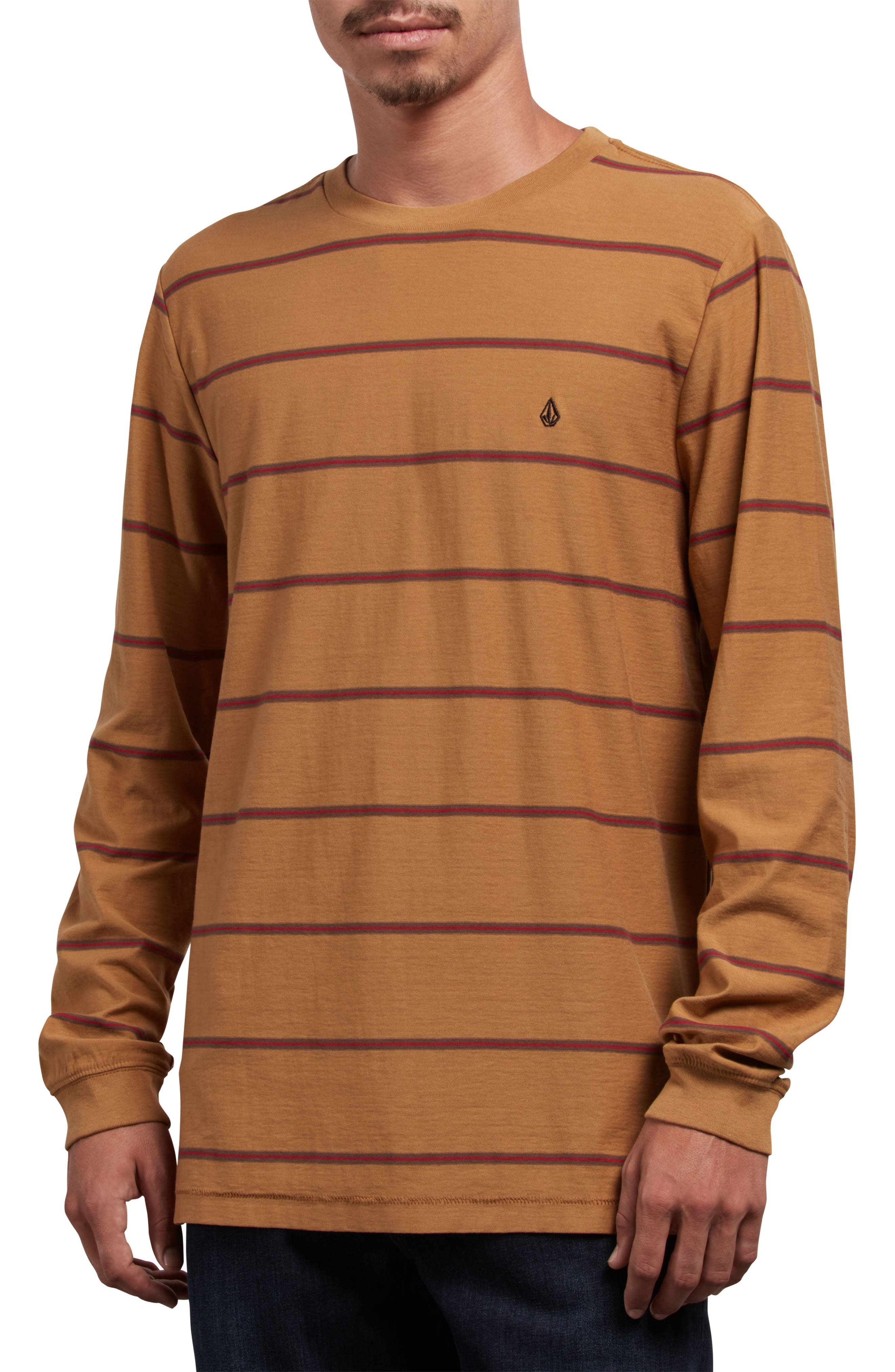 Randal Long Sleeve T-Shirt,                         Main,                         color, OLD GOLD