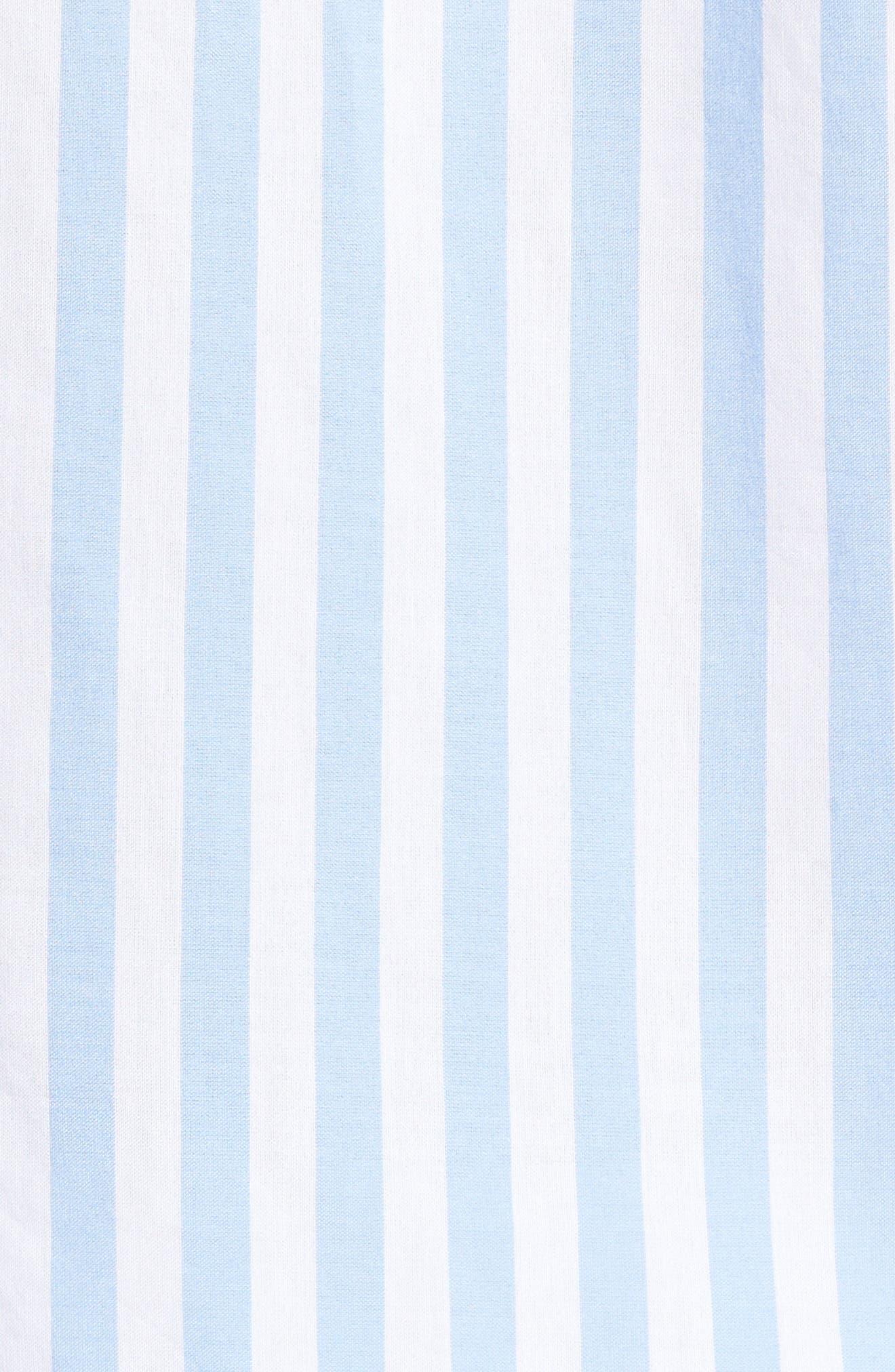 Slim Fit Stripe Sport Shirt,                             Alternate thumbnail 5, color,                             451