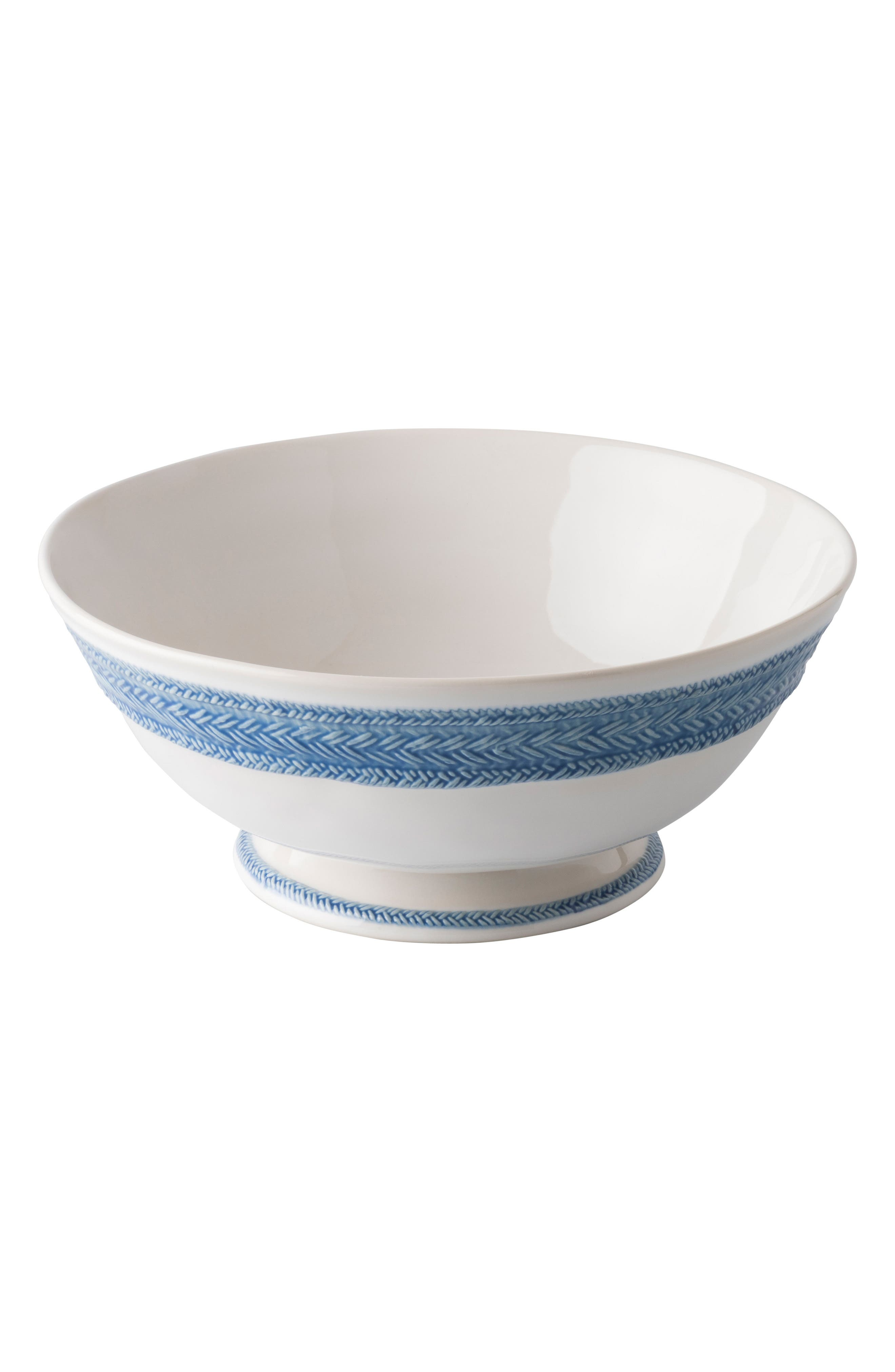 Le Panier Footed Fruit Bowl,                             Alternate thumbnail 2, color,                             WHITEWASH/ DELFT BLUE