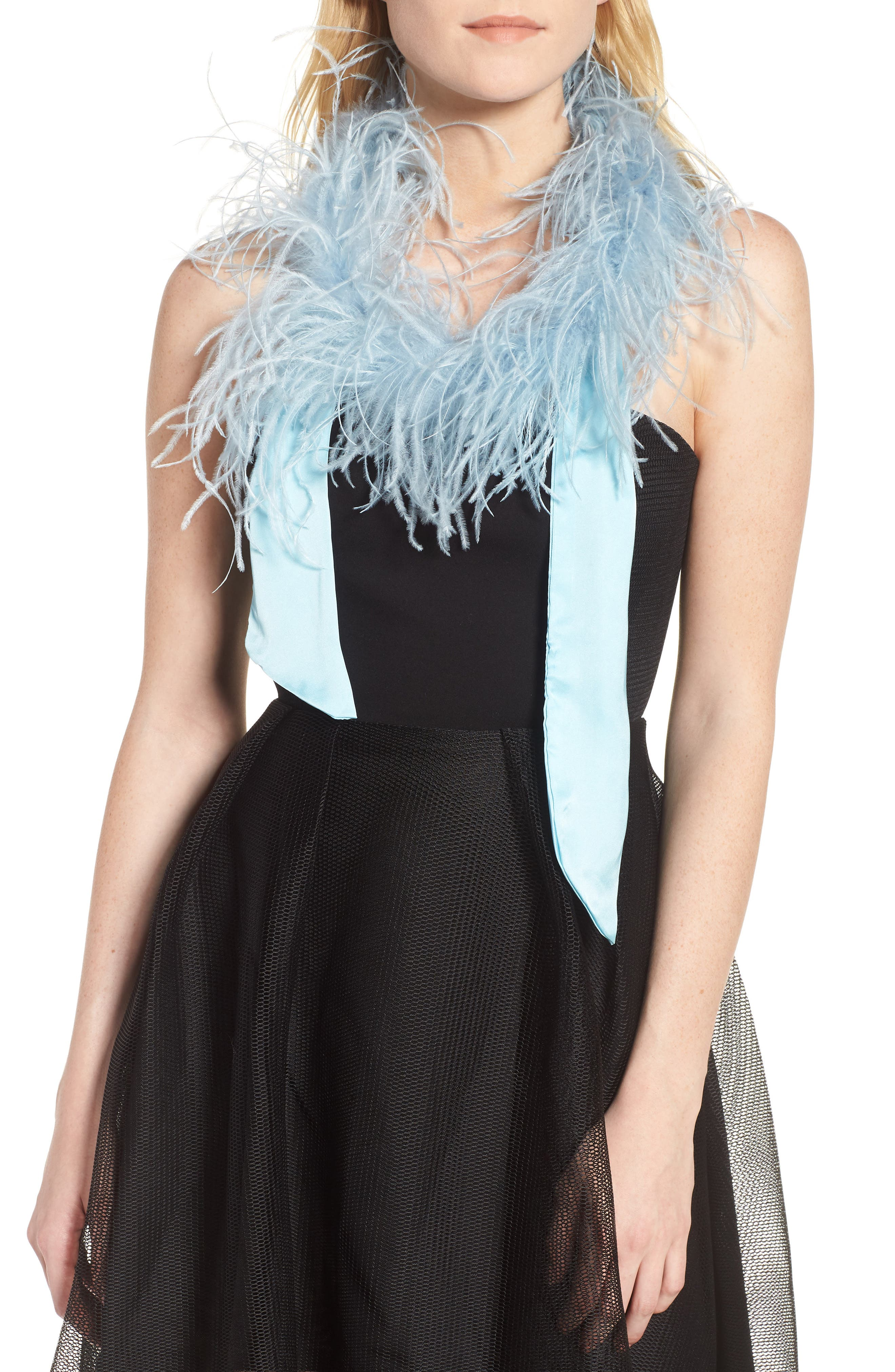 Ostrich Feather Scarf,                             Main thumbnail 2, color,