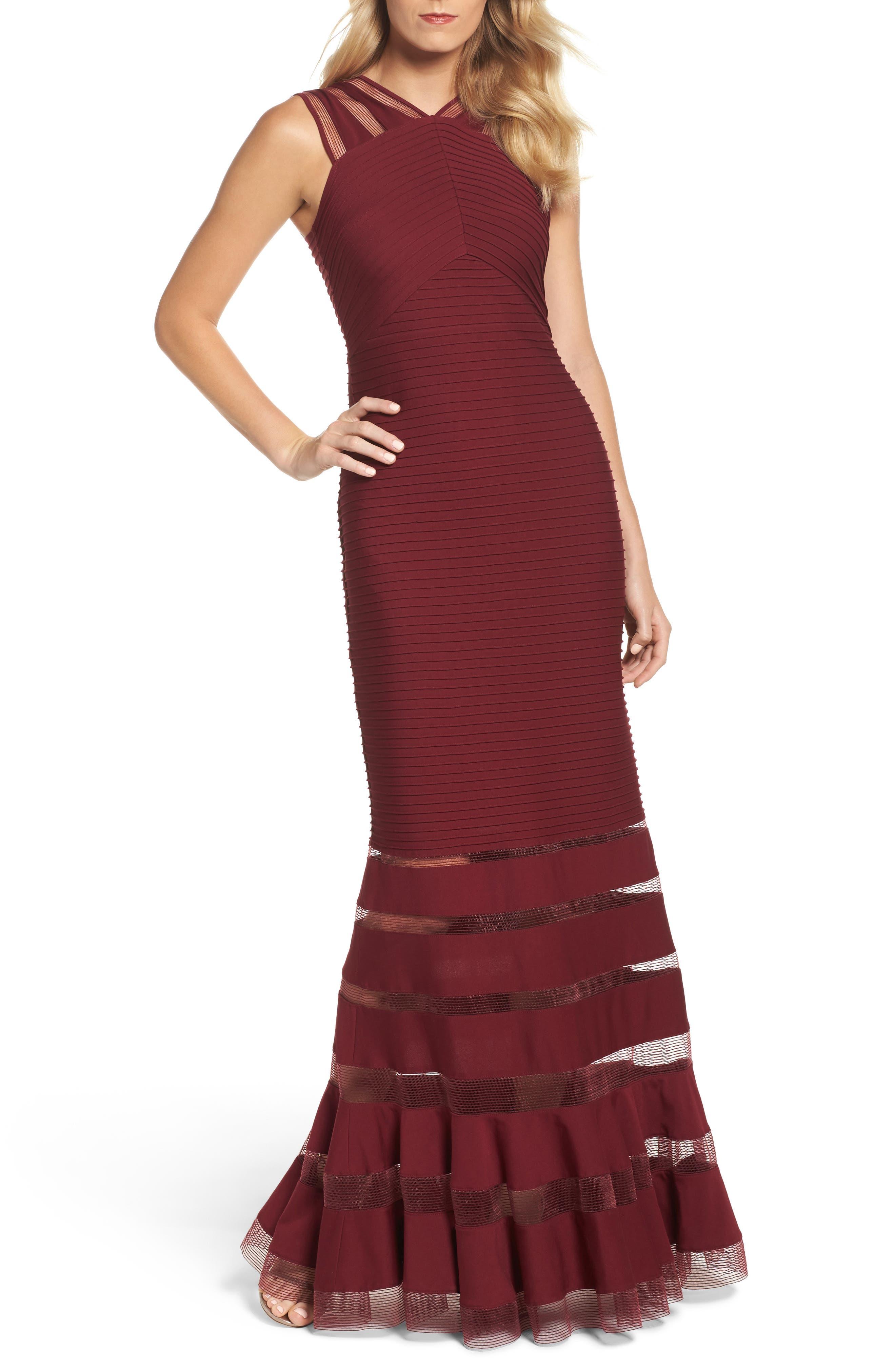Mesh Inset Pintuck Dress,                         Main,                         color, 600