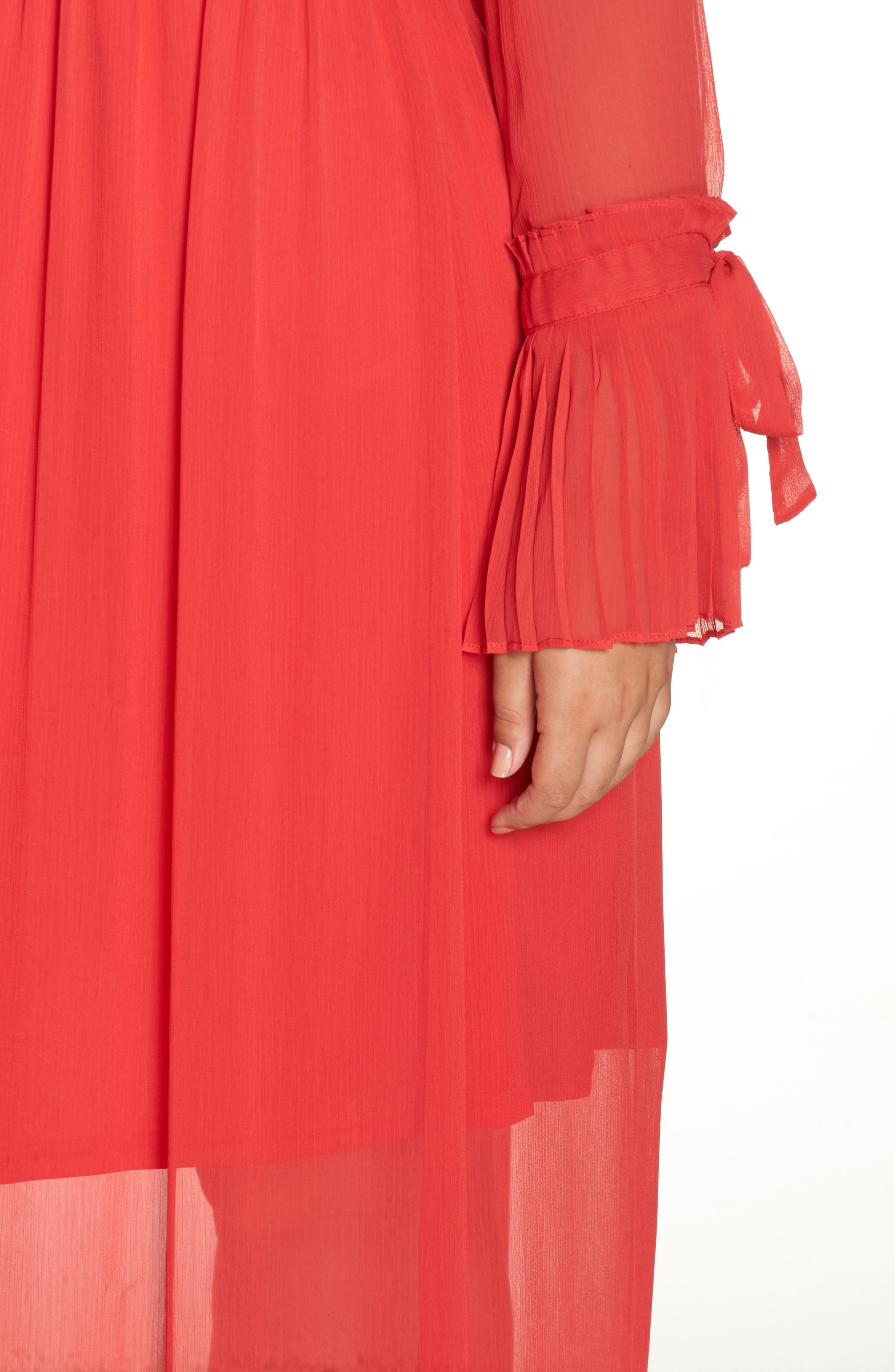 Pleated Maxi Dress,                             Alternate thumbnail 4, color,                             PINK