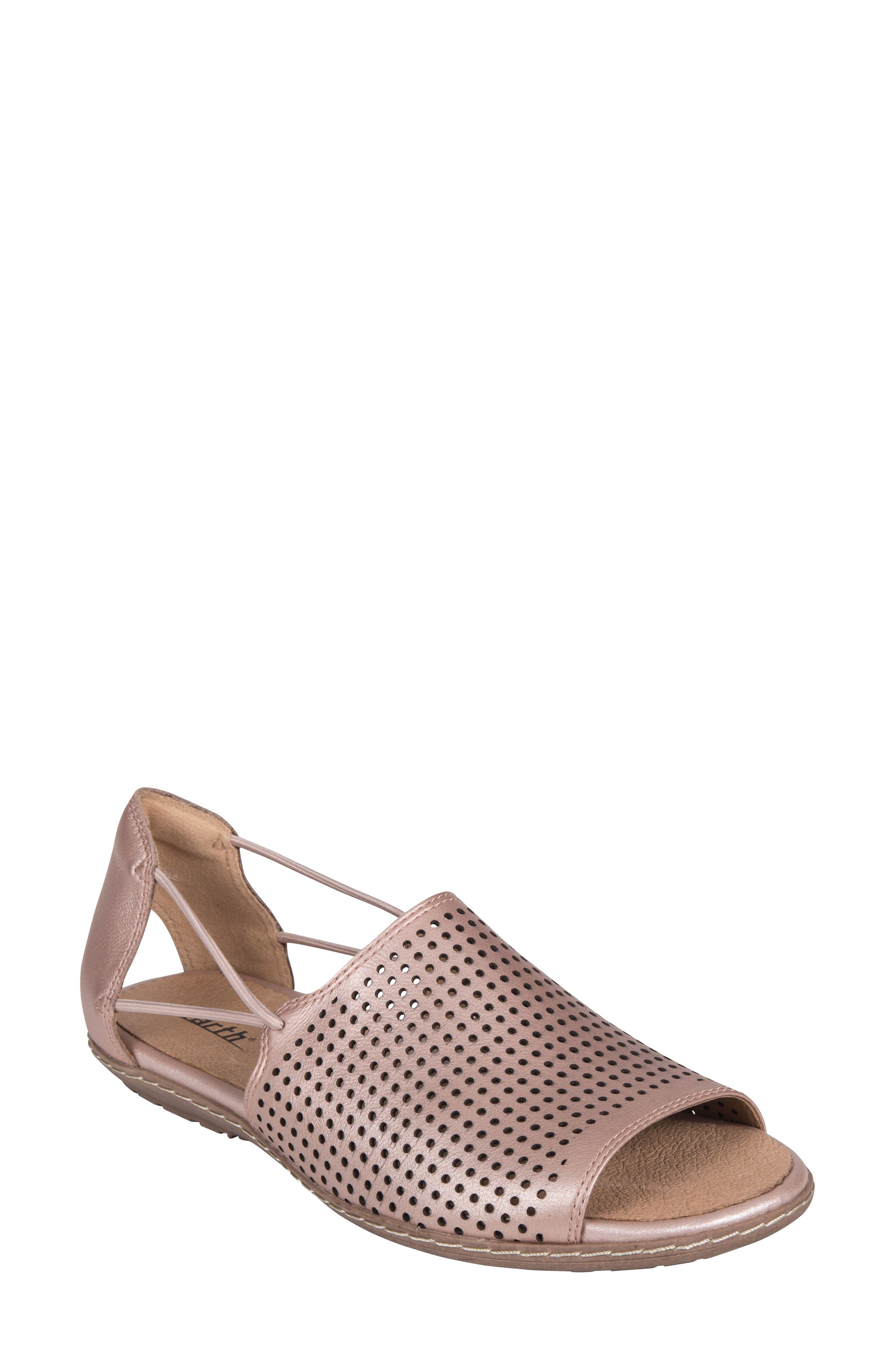 Shelly Sandal,                             Main thumbnail 1, color,                             BLUSH METALLIC LEATHER