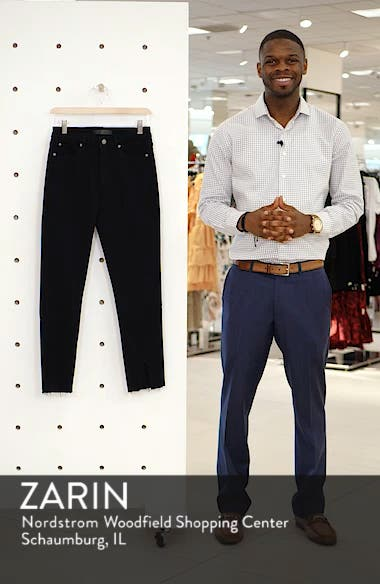 High Waist Split Hem Skinny Jeans, sales video thumbnail