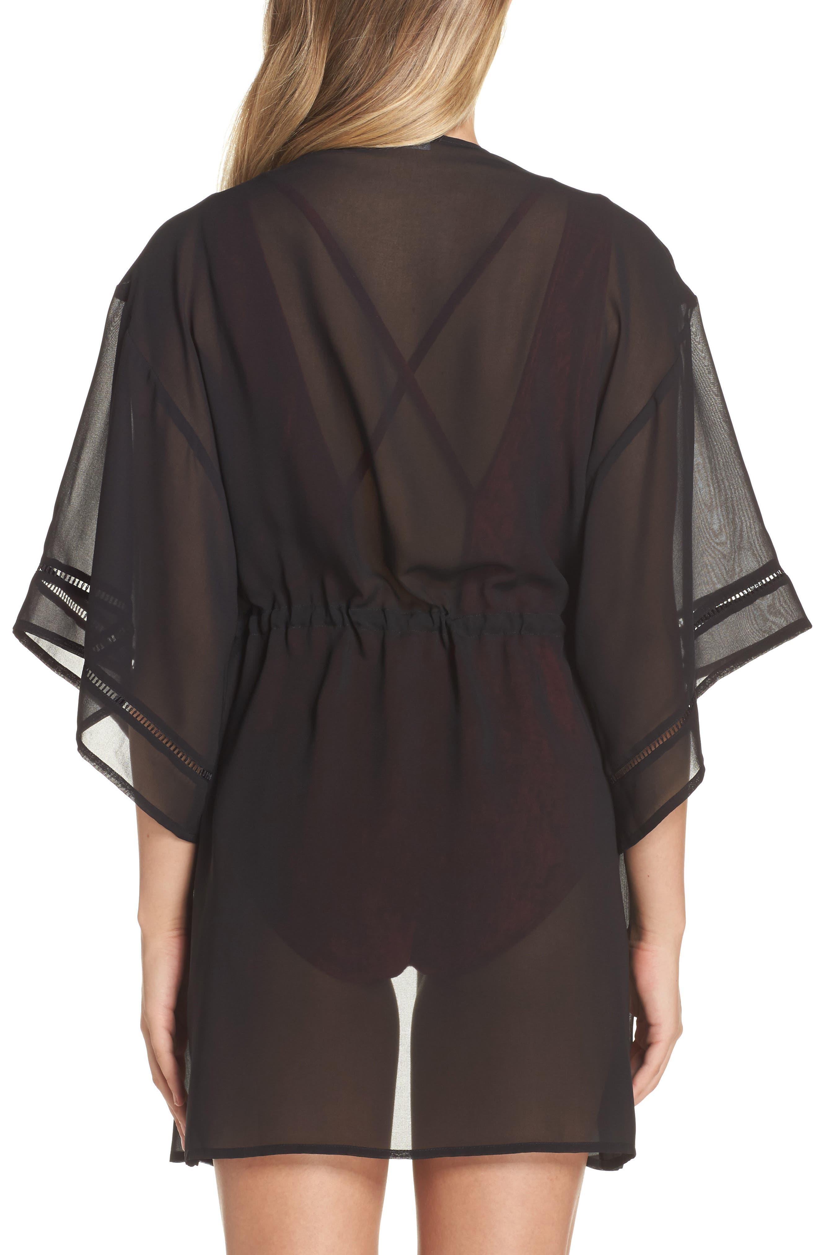 Side Slit Kimono Cover-Up,                             Alternate thumbnail 2, color,                             001