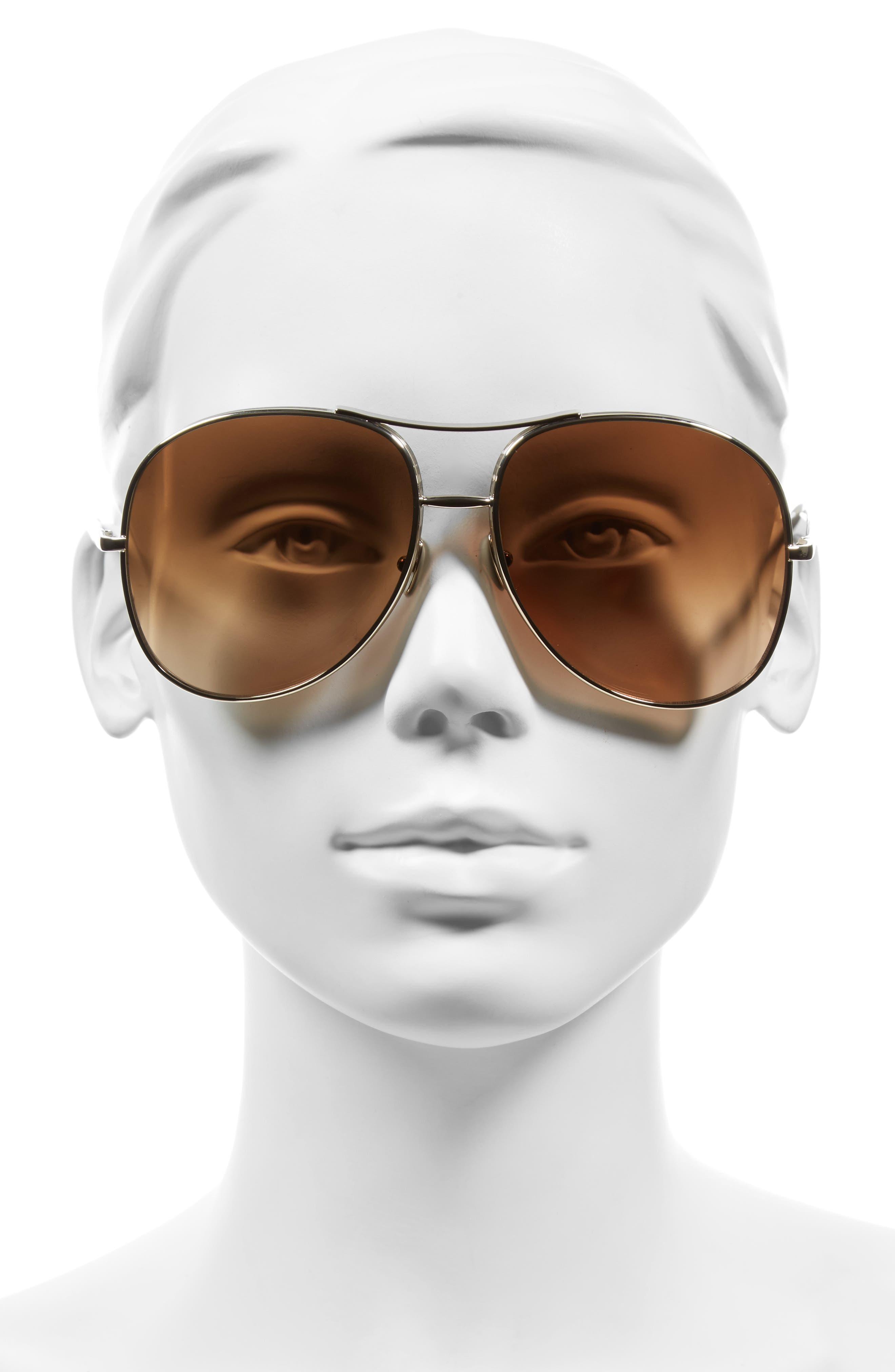 61mm Oversize Sunglasses,                             Alternate thumbnail 4, color,