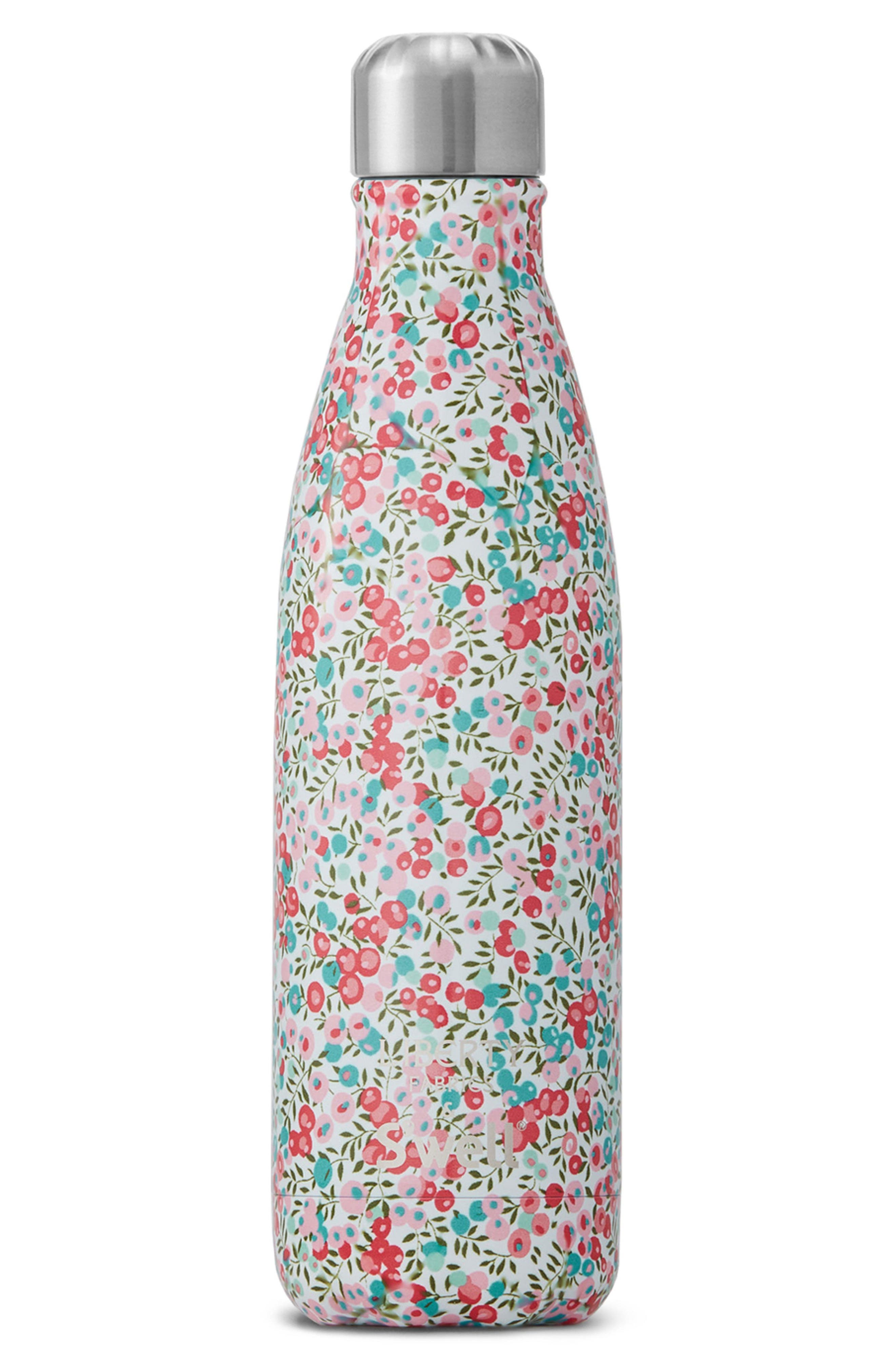 Liberty Fabrics Wiltshire Stainless Steel Water Bottle,                             Main thumbnail 1, color,                             602