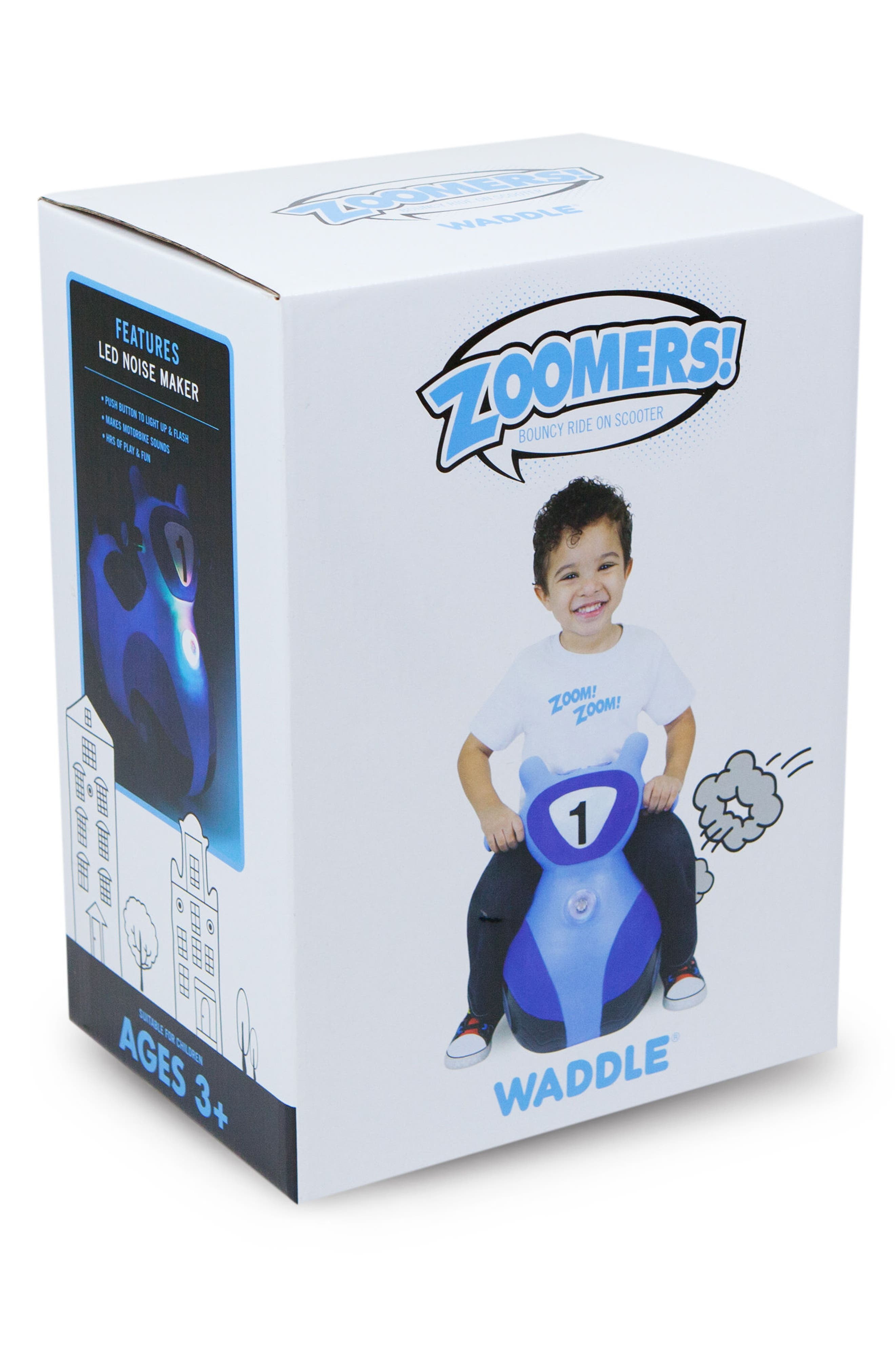 Scooter Bouncy Ride-On Scooter Toy,                             Alternate thumbnail 2, color,                             BLUE
