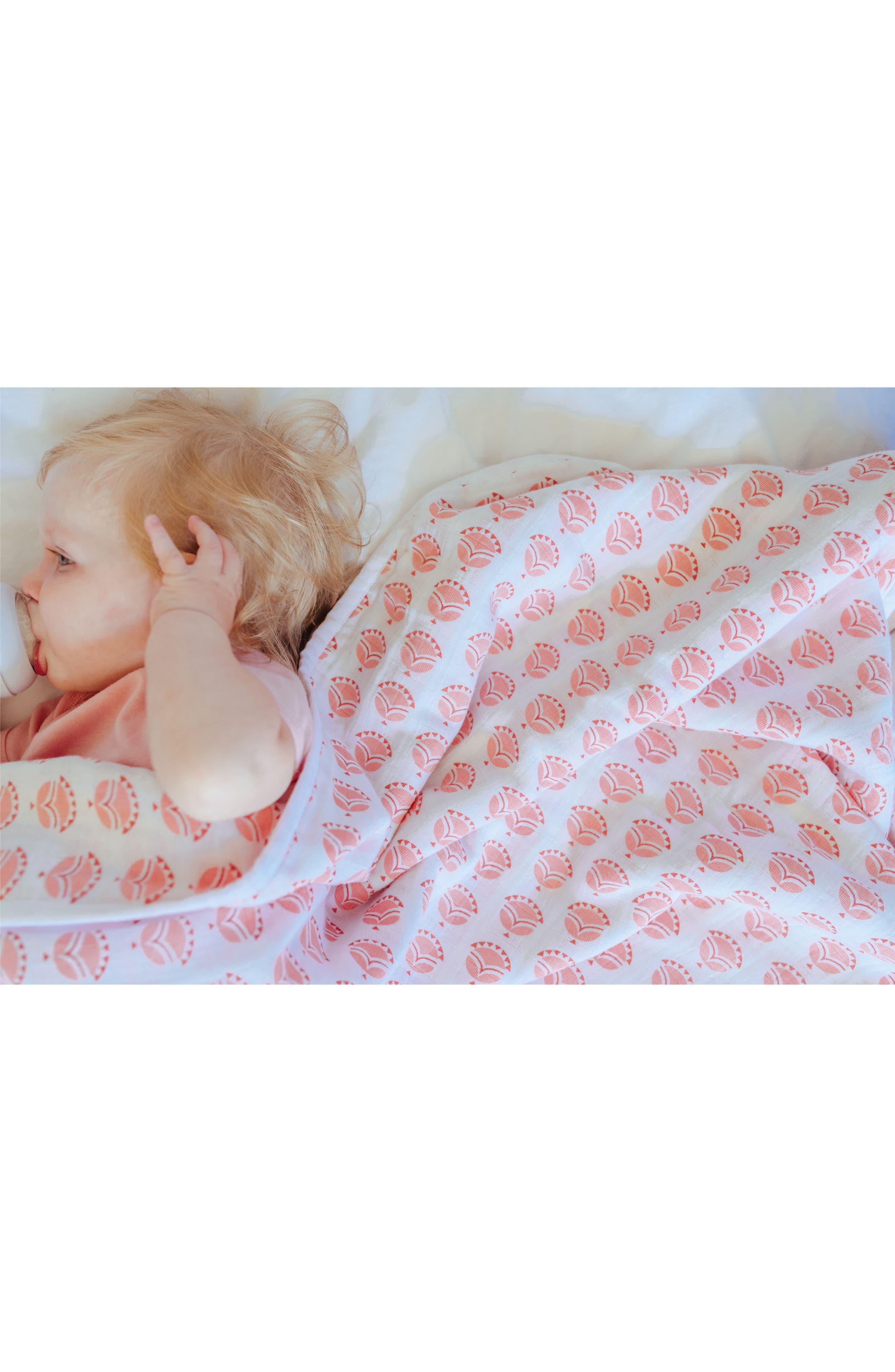 Mia Organic Cotton Blanket,                             Alternate thumbnail 5, color,