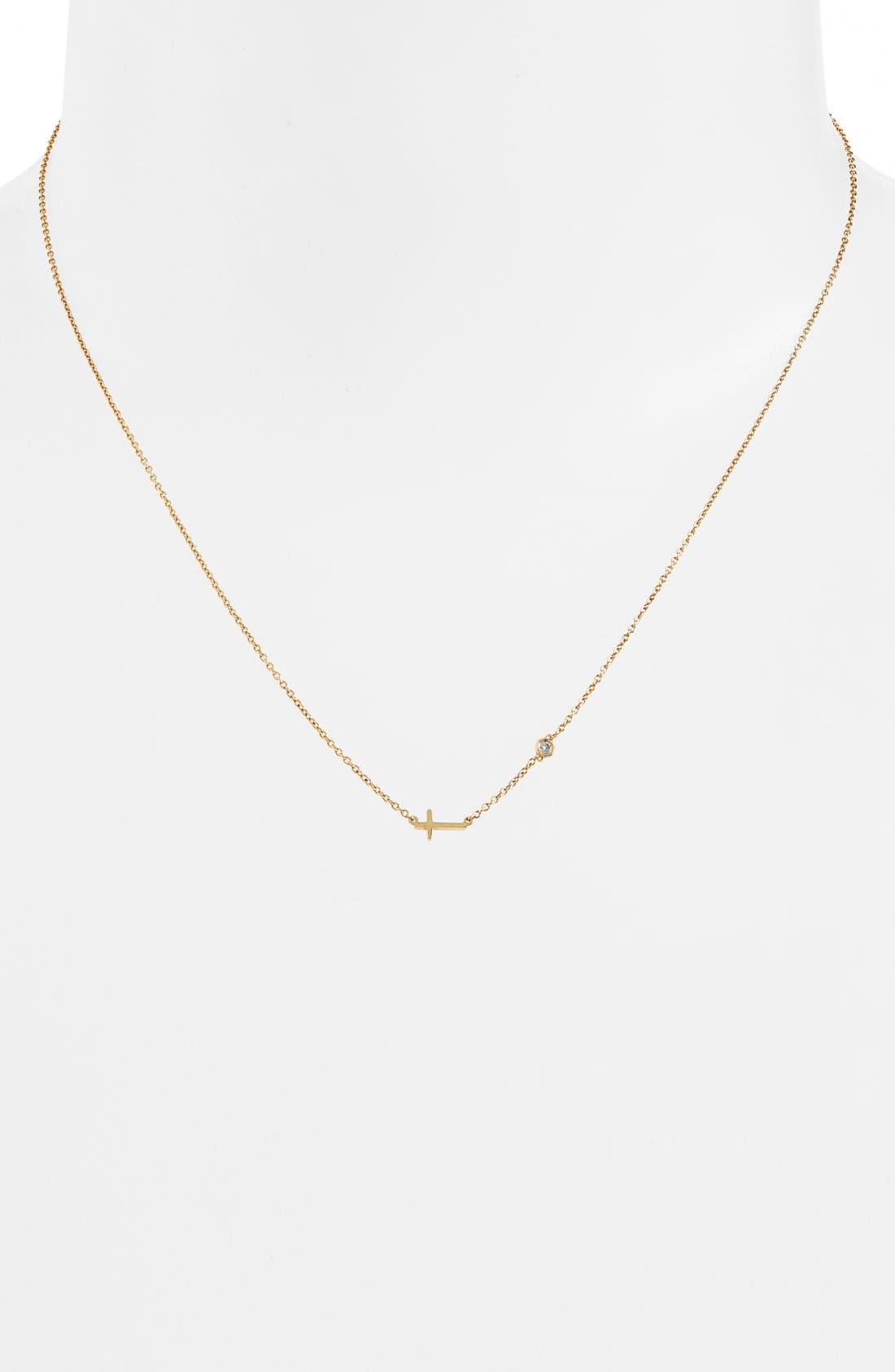 Shy by SE Cross Necklace,                             Alternate thumbnail 5, color,