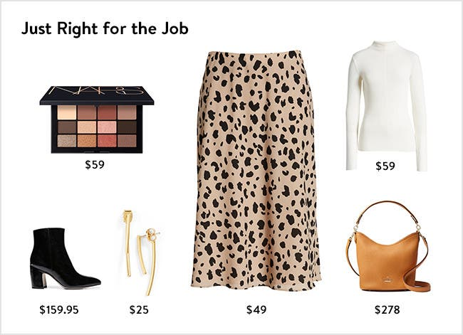 Just right for the job: women's clothing, shoes, handbags, makeup palettes and more.
