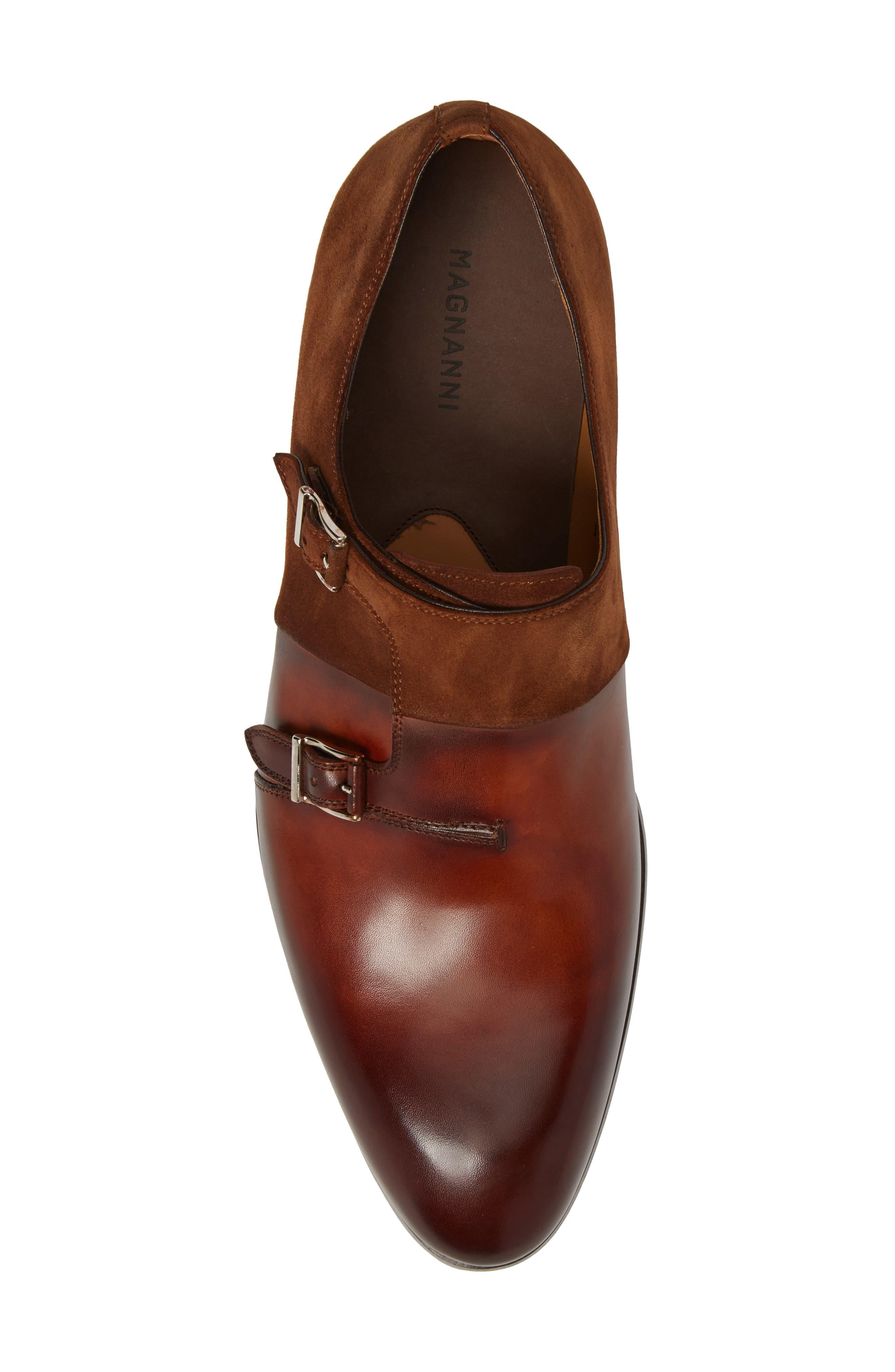 Orville Double Monk Strap Shoe,                             Alternate thumbnail 5, color,                             219