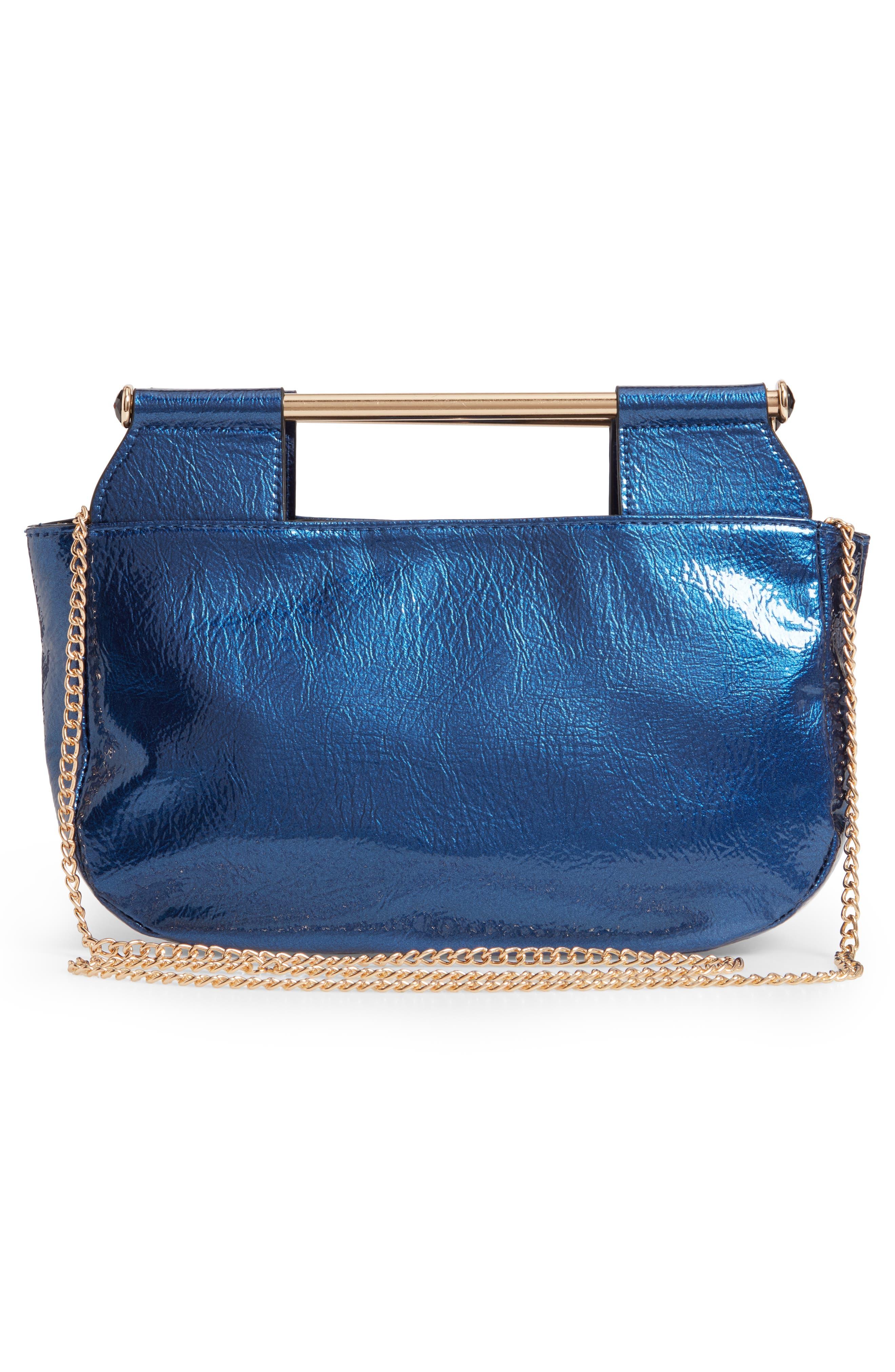 Patent Leather Crossbody Bag,                             Alternate thumbnail 3, color,                             400