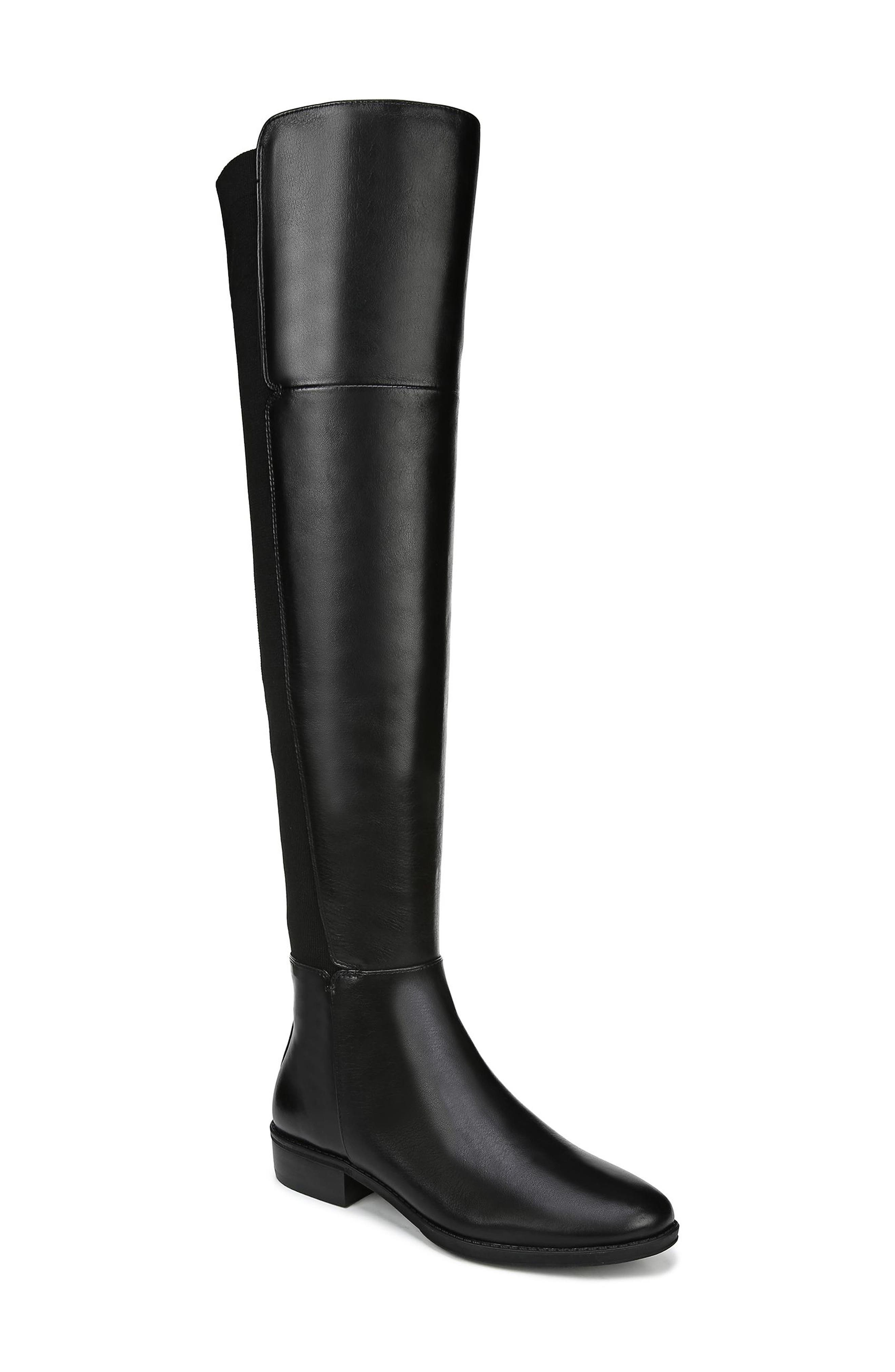Pam Over the Knee Boot,                         Main,                         color, BLACK LEATHER