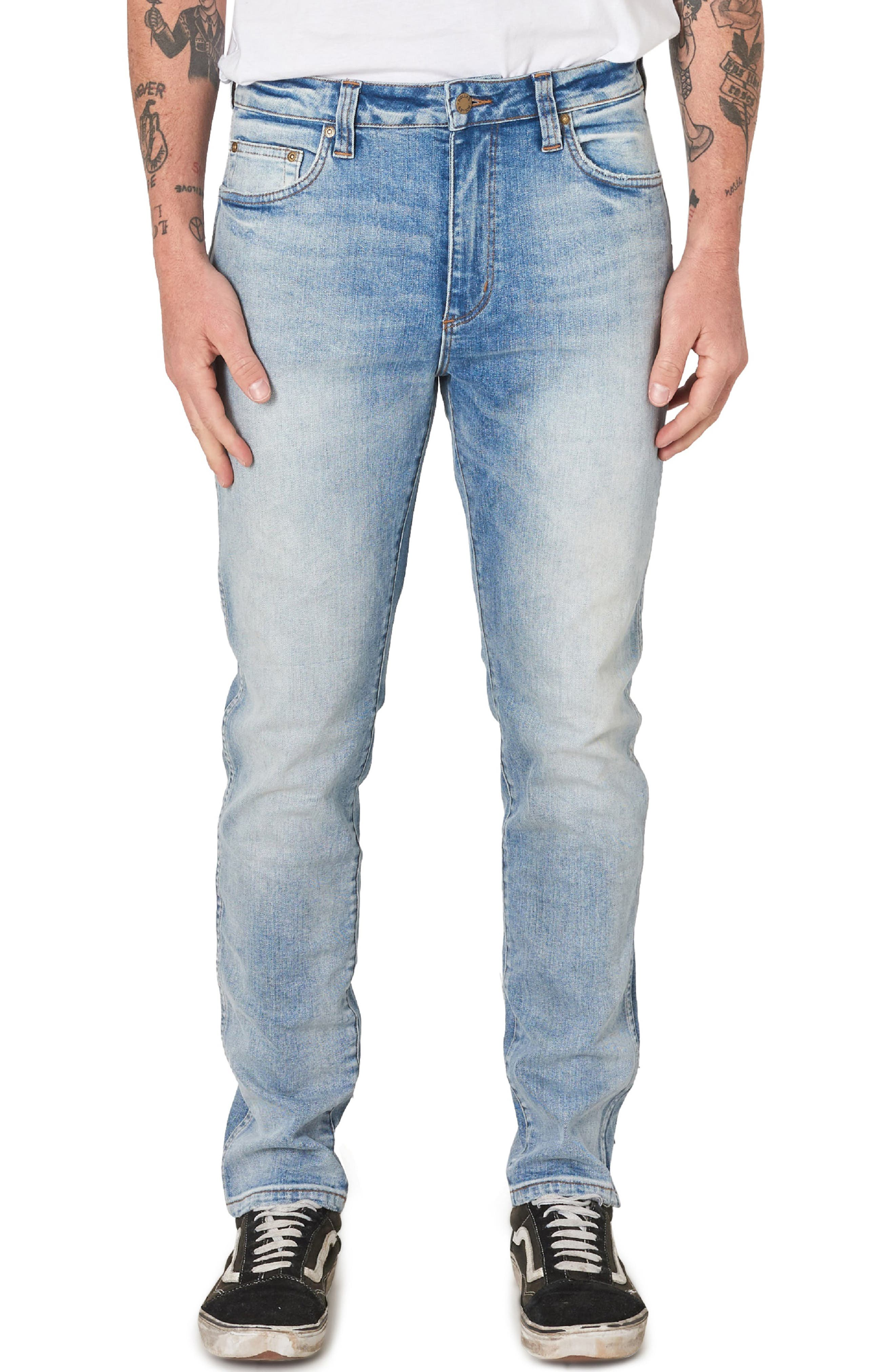 ROLLA'S Tim Slim Fit Jeans in Dingo Blue