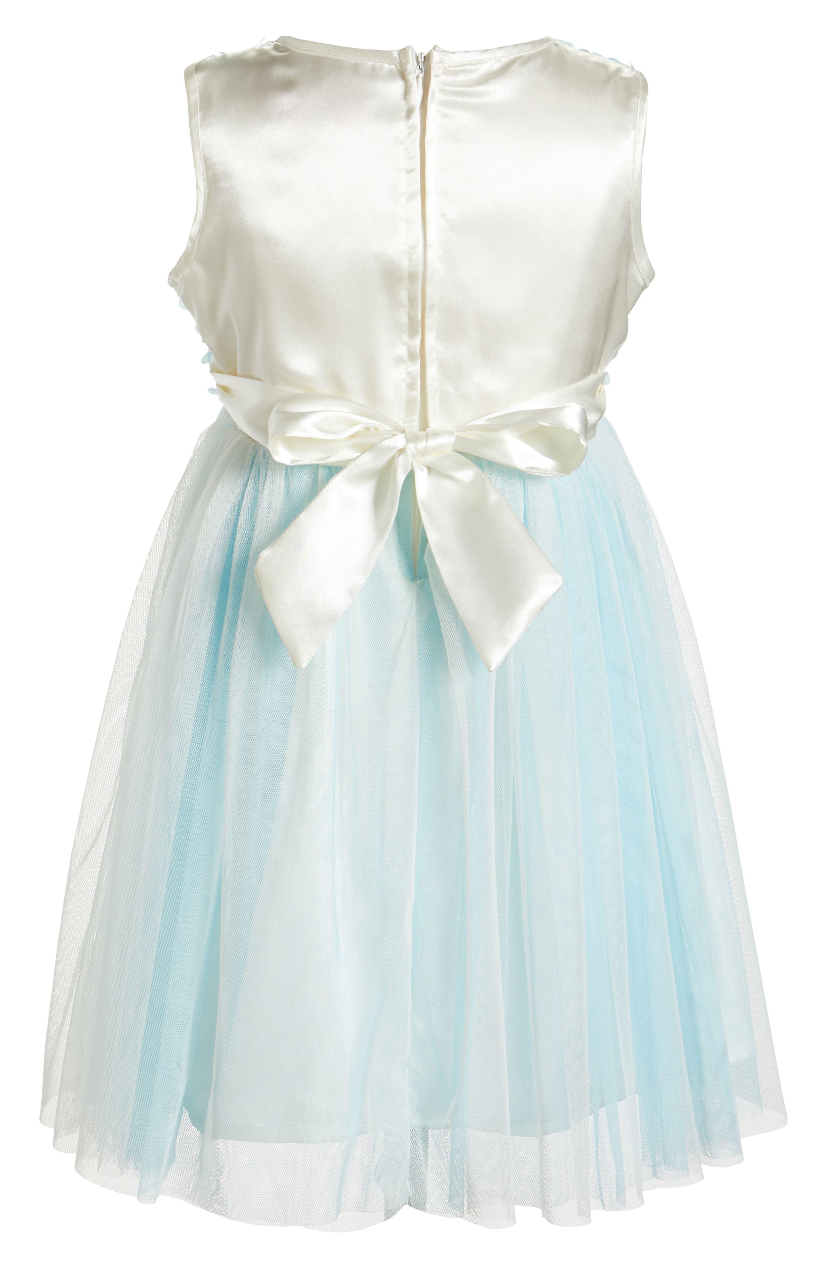 Sleeveless Floral Dress,                             Alternate thumbnail 2, color,                             BLUE