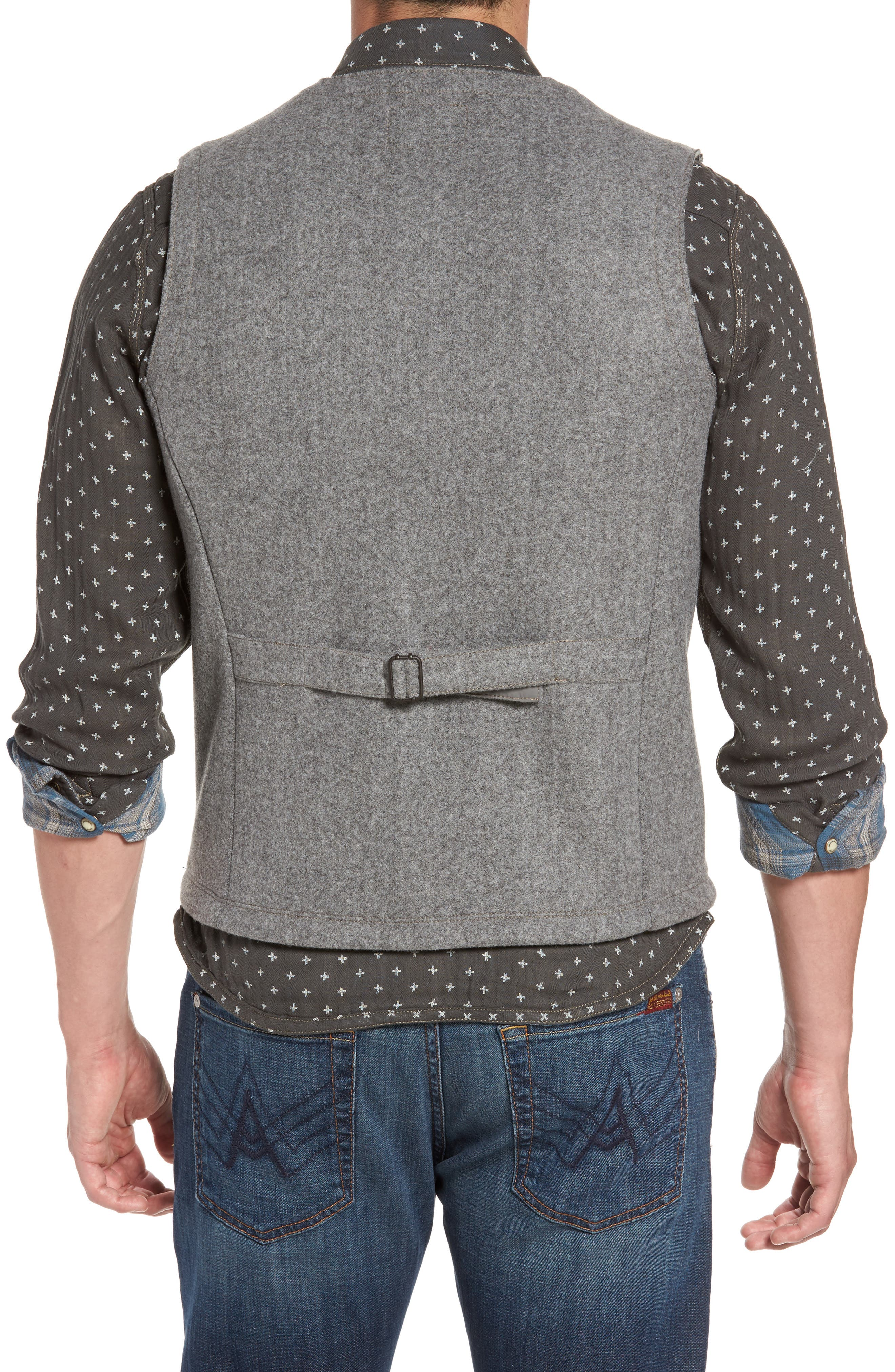 Cambria Heathered Zip Vest,                             Alternate thumbnail 2, color,                             SMOKED PEARL