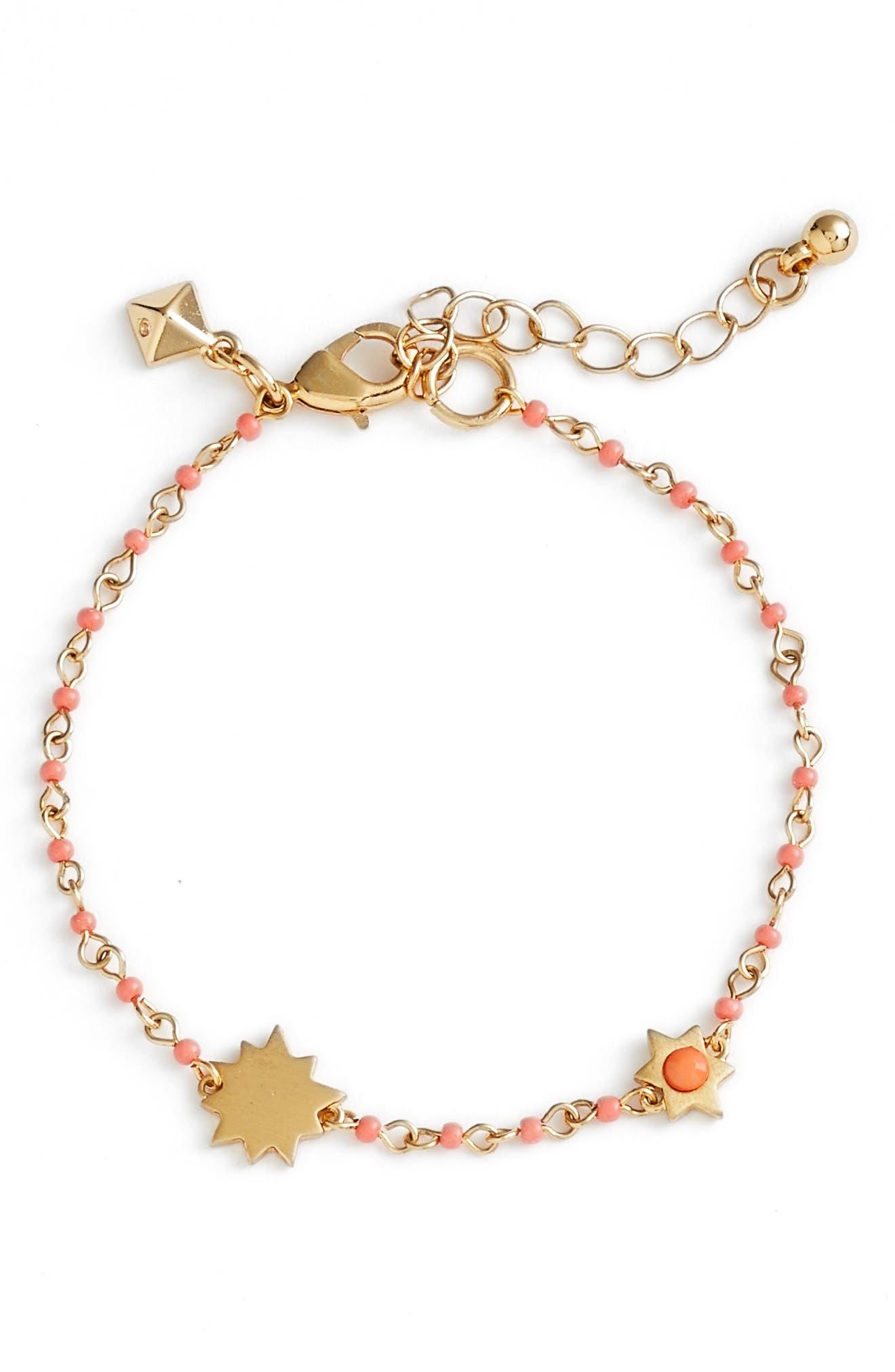 Sole Beaded Link Bracelet,                             Main thumbnail 2, color,