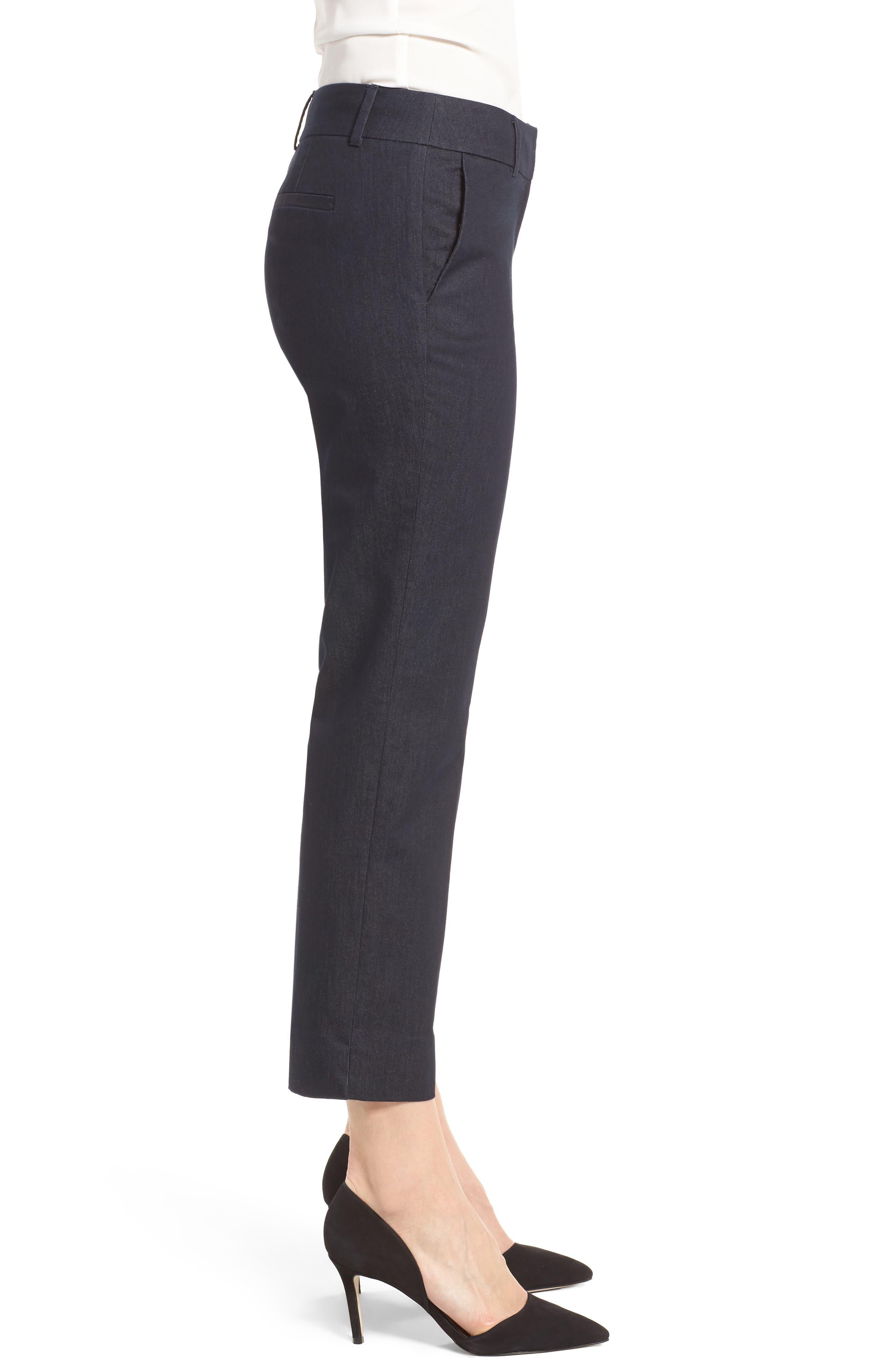 Crop Stretch Cotton Pants,                             Alternate thumbnail 59, color,