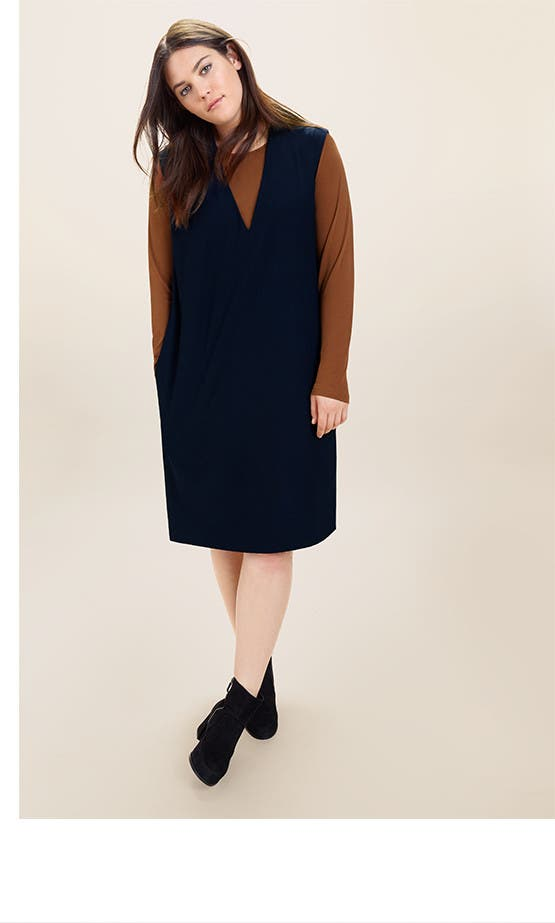 Eileen Fisher fall clothing.