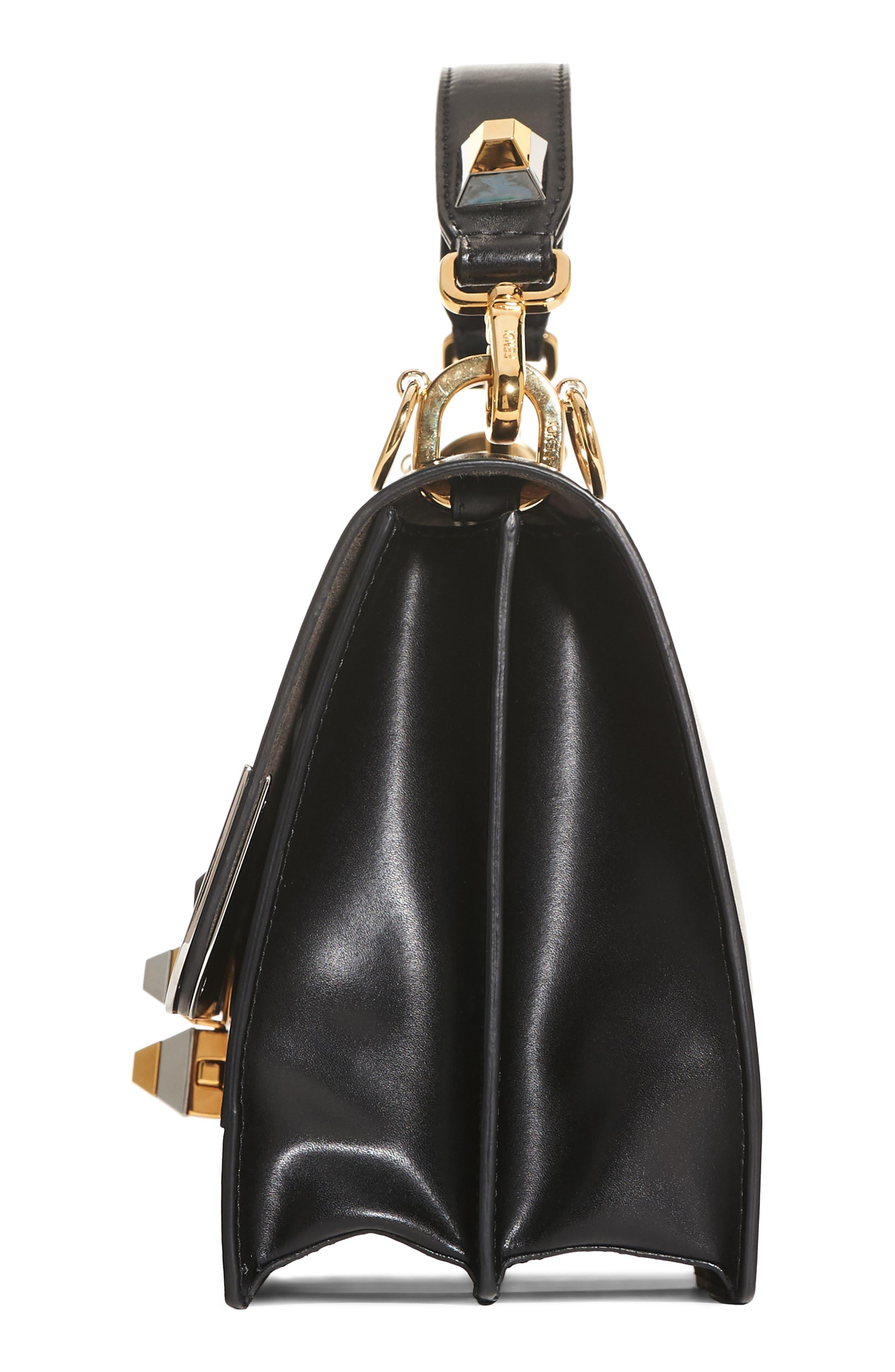 Kan I Monster Calfskin Leather Shoulder Bag,                             Alternate thumbnail 5, color,                             BLACK PALLADIUM