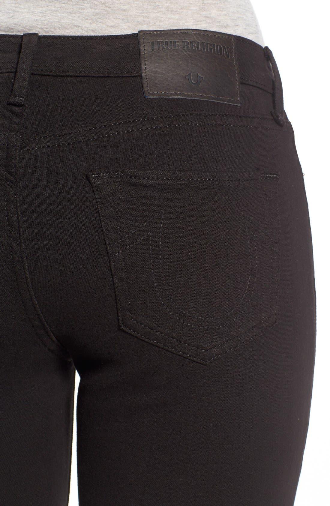 'Halle' Skinny Jeans,                             Alternate thumbnail 4, color,