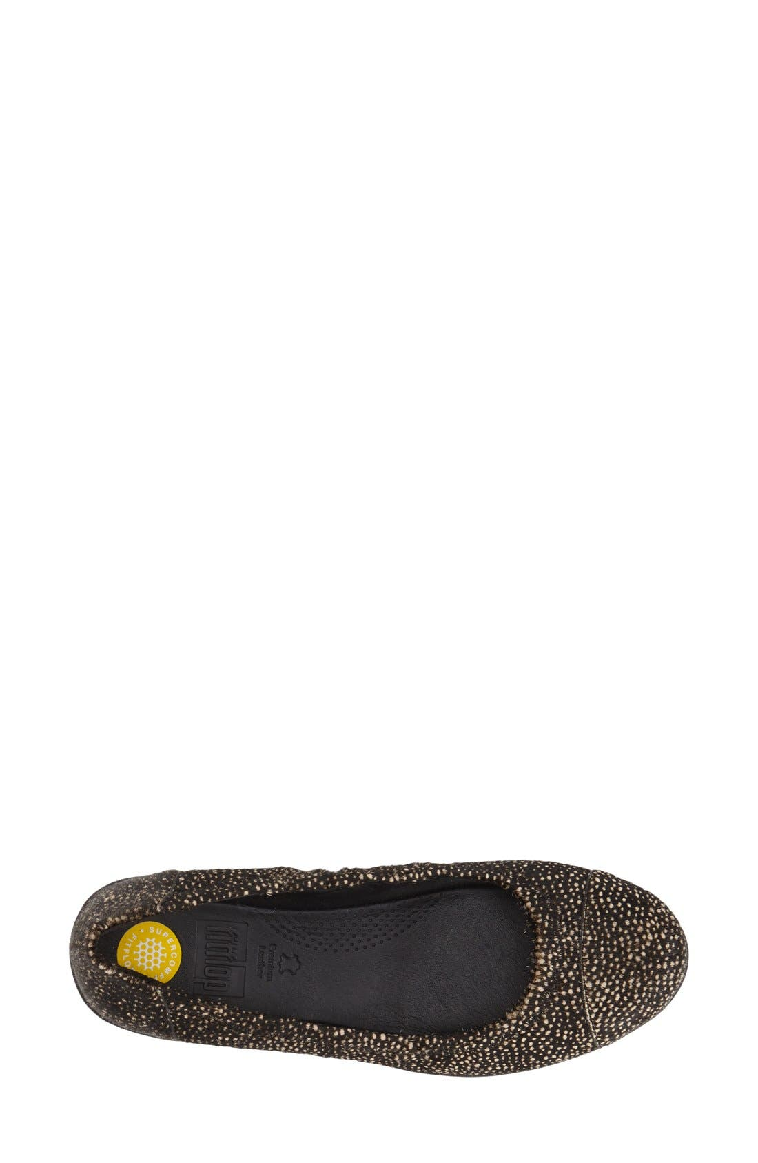 FITFLOP,                              'F-Pop' Leather Ballerina Flat,                             Alternate thumbnail 3, color,                             017