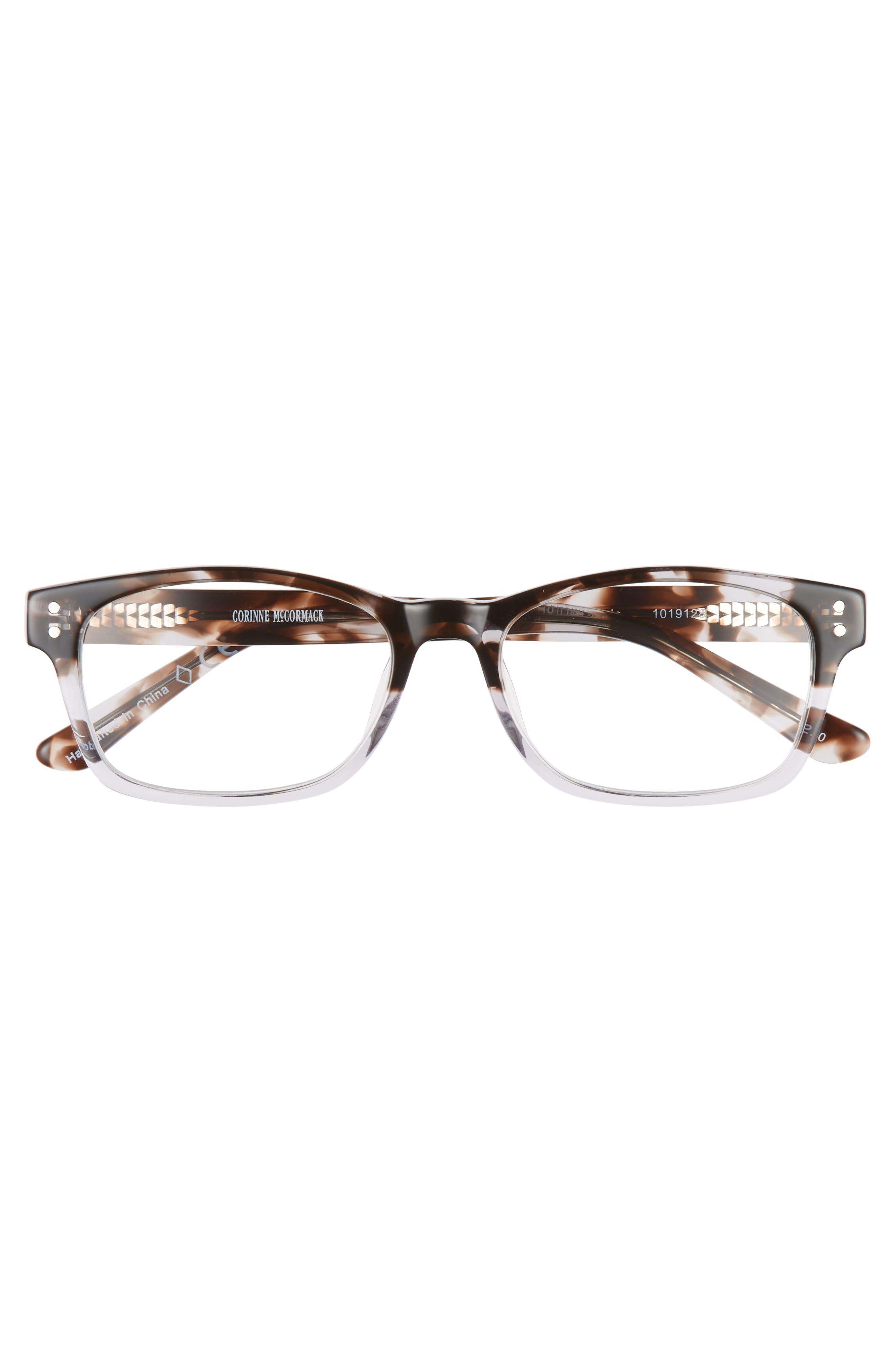 Edie 52mm Reading Glasses,                             Alternate thumbnail 3, color,                             GREY DEMI FADE