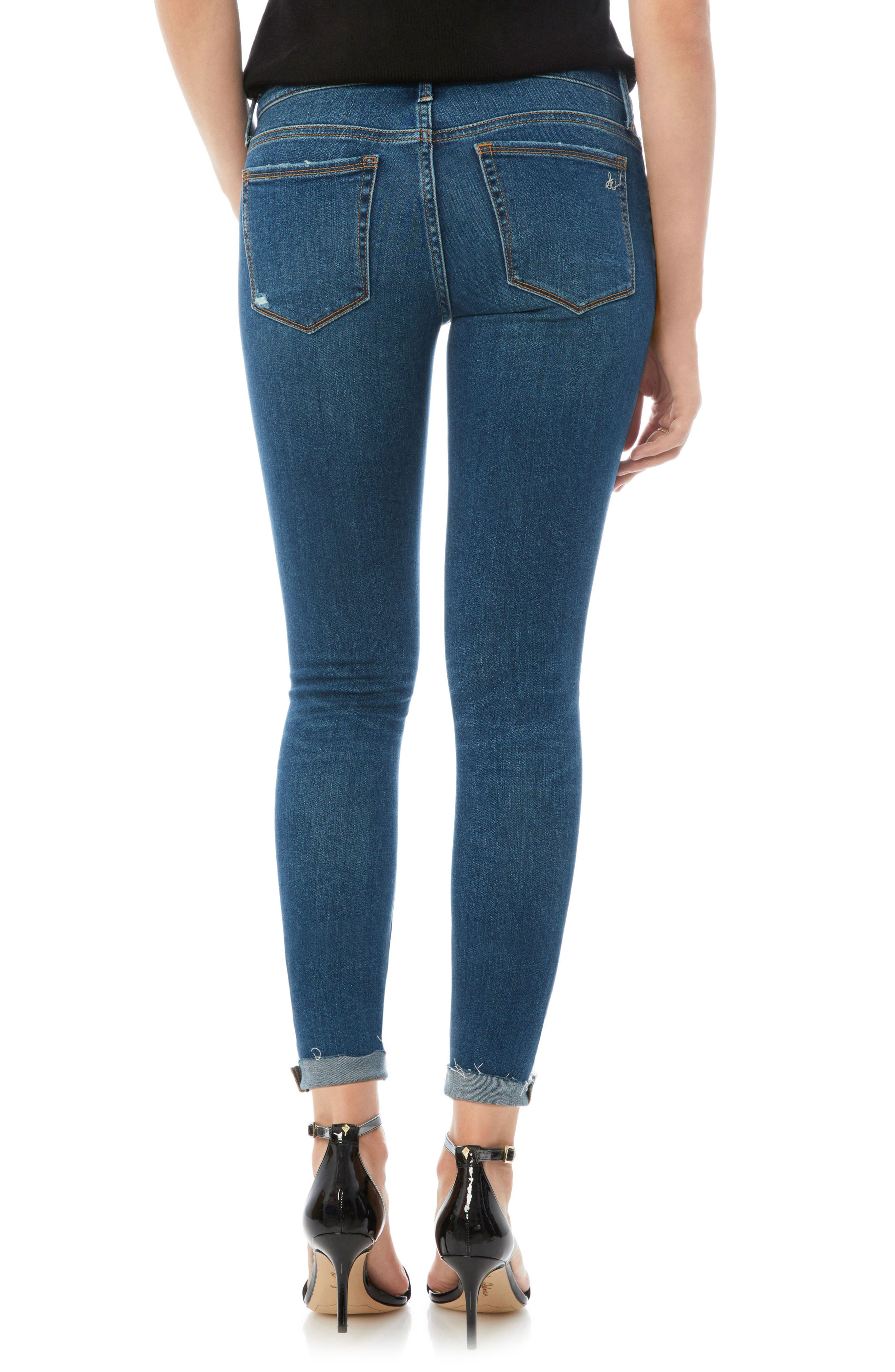 The Kitten Raw Edge Skinny Jeans,                             Alternate thumbnail 2, color,                             LANELLE