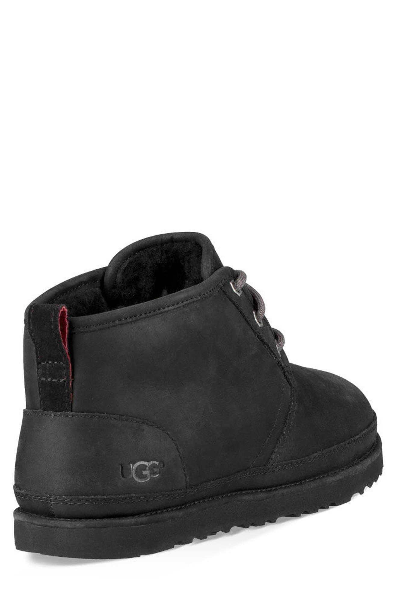 UGG<SUP>®</SUP>,                             Neumel Waterproof Chukka Boot,                             Alternate thumbnail 2, color,                             BLACK