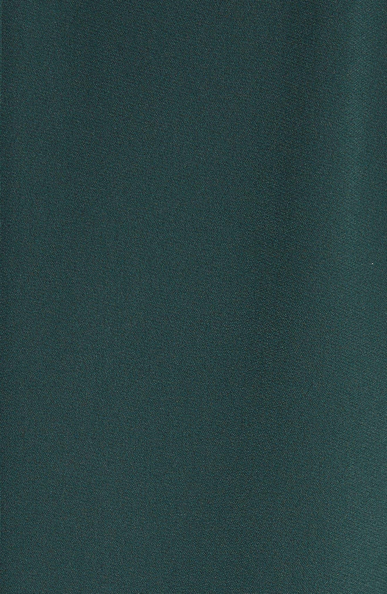 Button Trim Ruffle Hem Dress,                             Alternate thumbnail 5, color,                             301