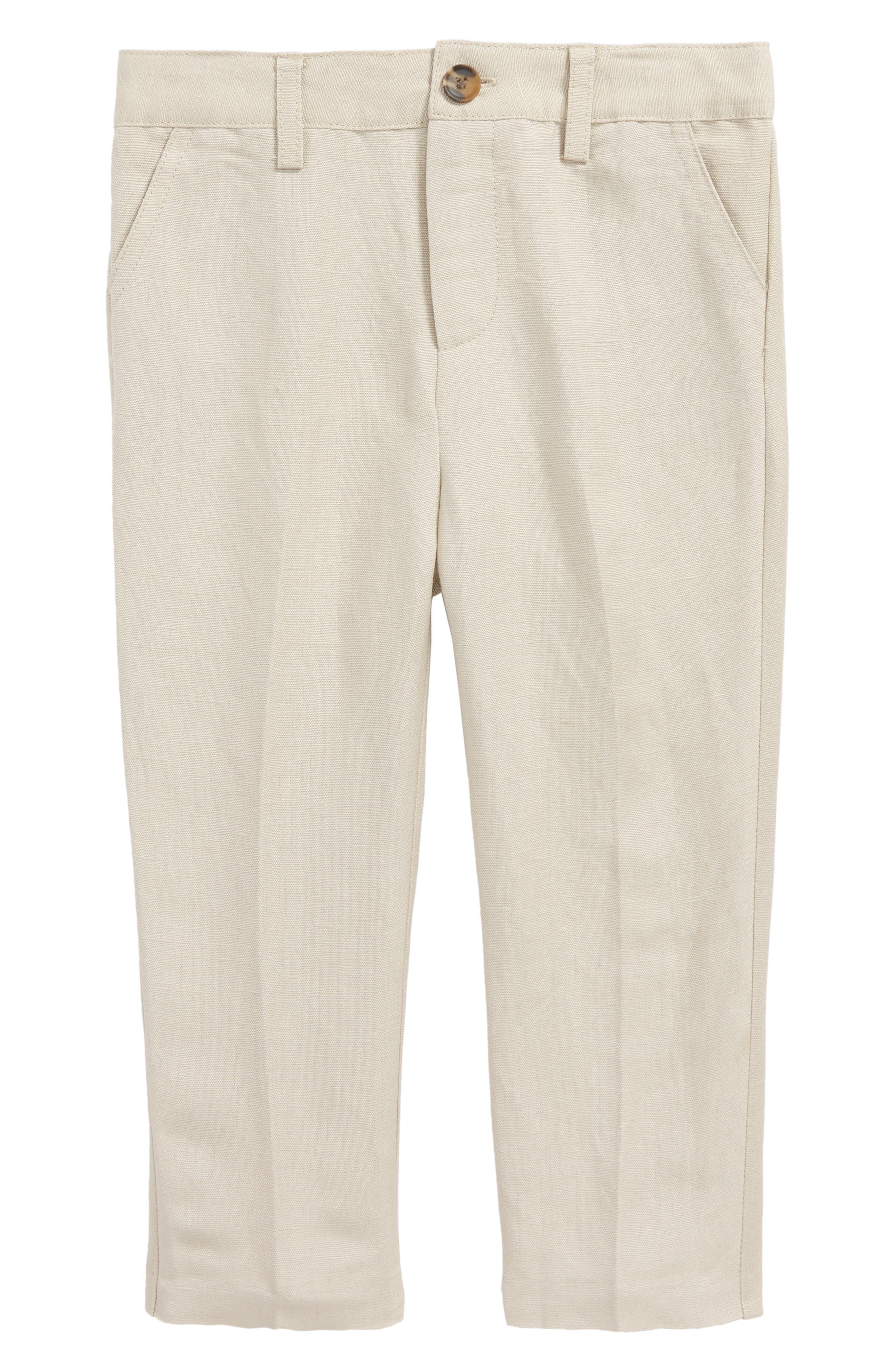 BARDOT JUNIOR Miles Linen Blend Dress Pants, Main, color, 277
