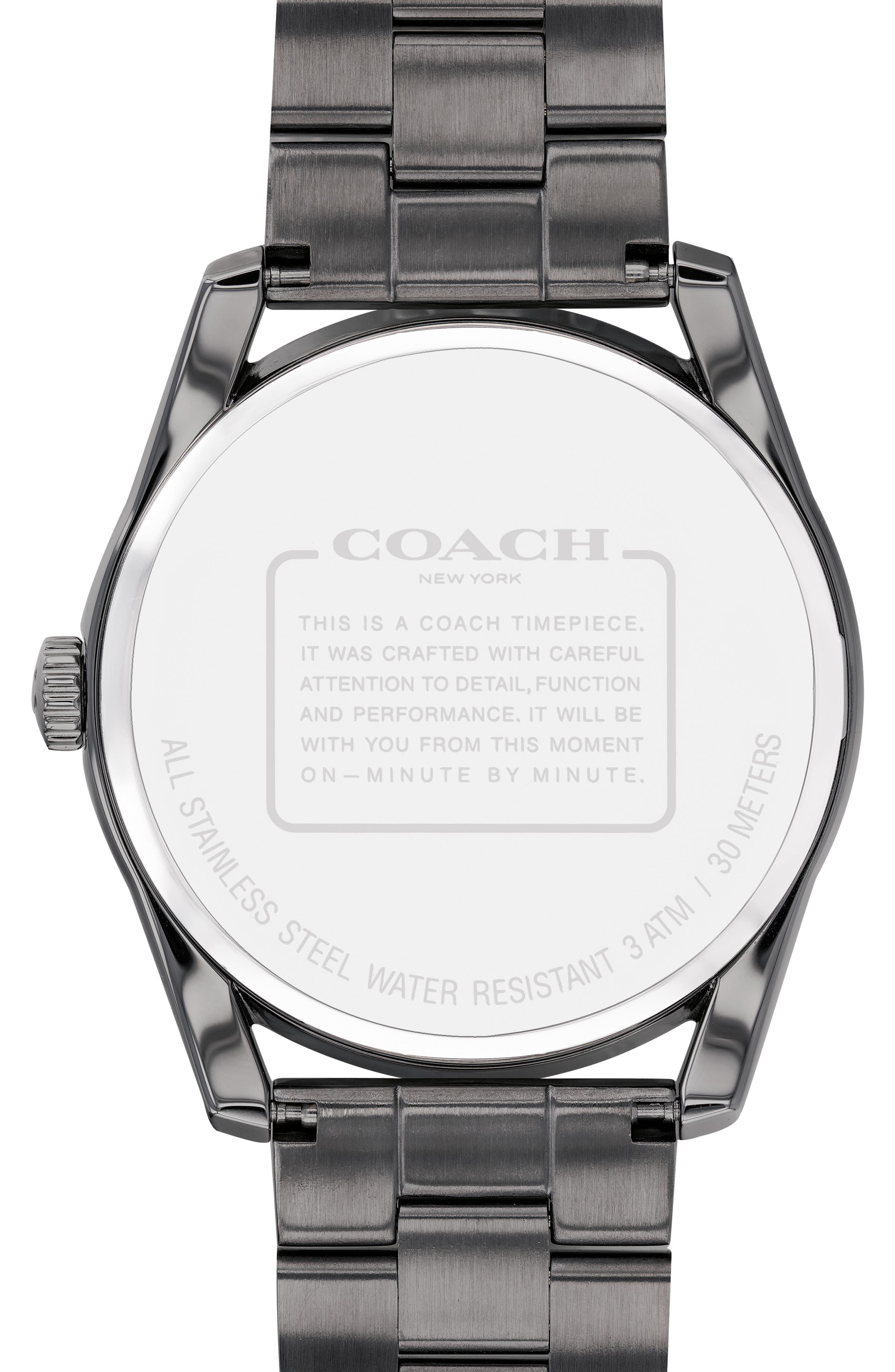 Preston Bracelet Watch, 41mm,                             Alternate thumbnail 2, color,                             GREY/ NAVY