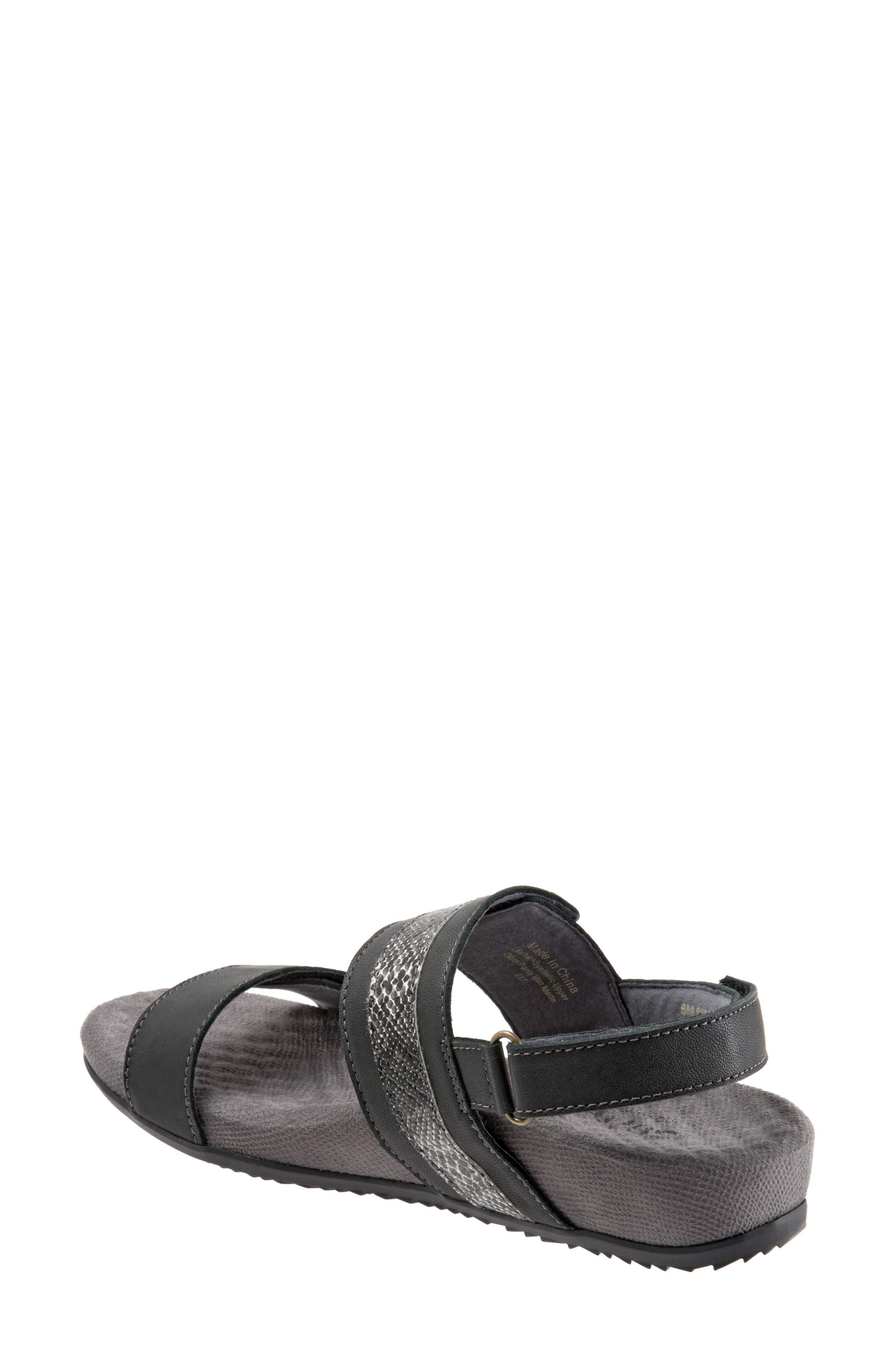 Bimmer Sandal,                             Alternate thumbnail 2, color,                             BLACK LEATHER
