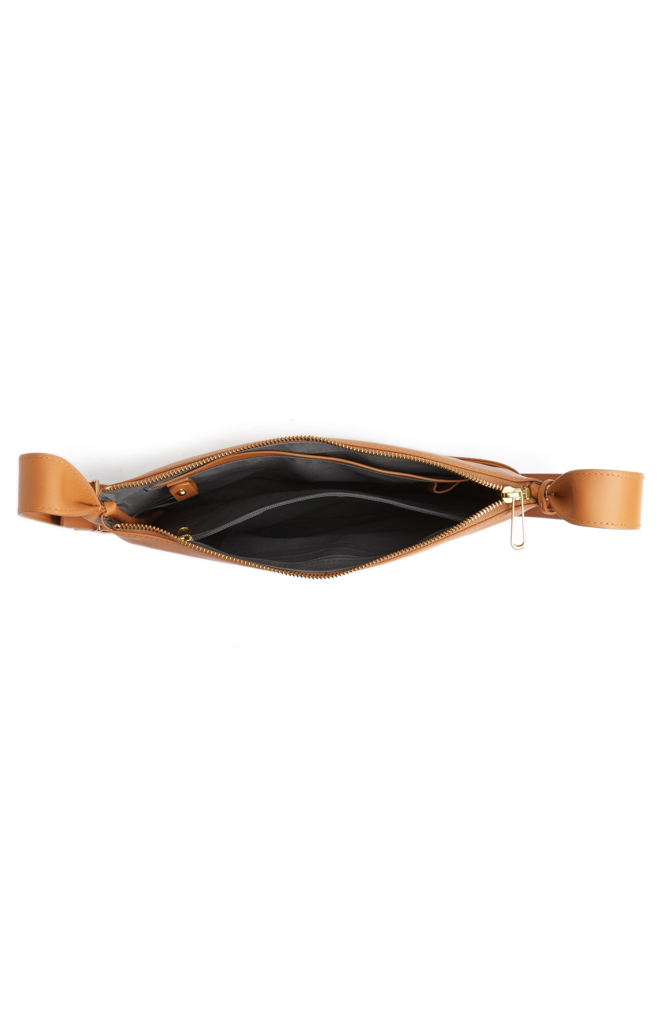 Slim Anesa Leather Crossbody Bag,                             Alternate thumbnail 8, color,
