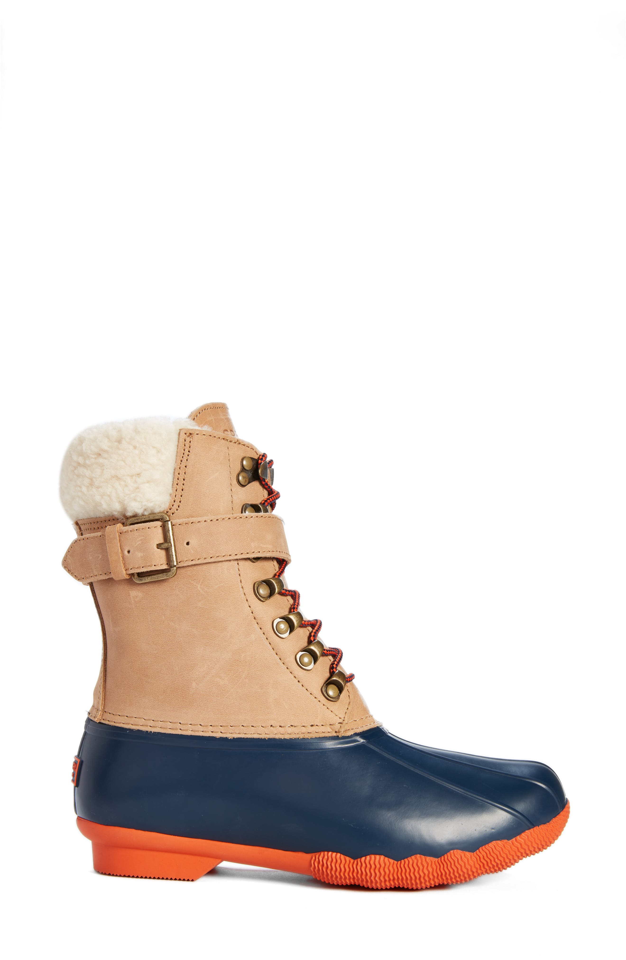 SPERRY,                             Shearwater Water-Resistant Genuine Shearling Lined Boot,                             Alternate thumbnail 3, color,                             200