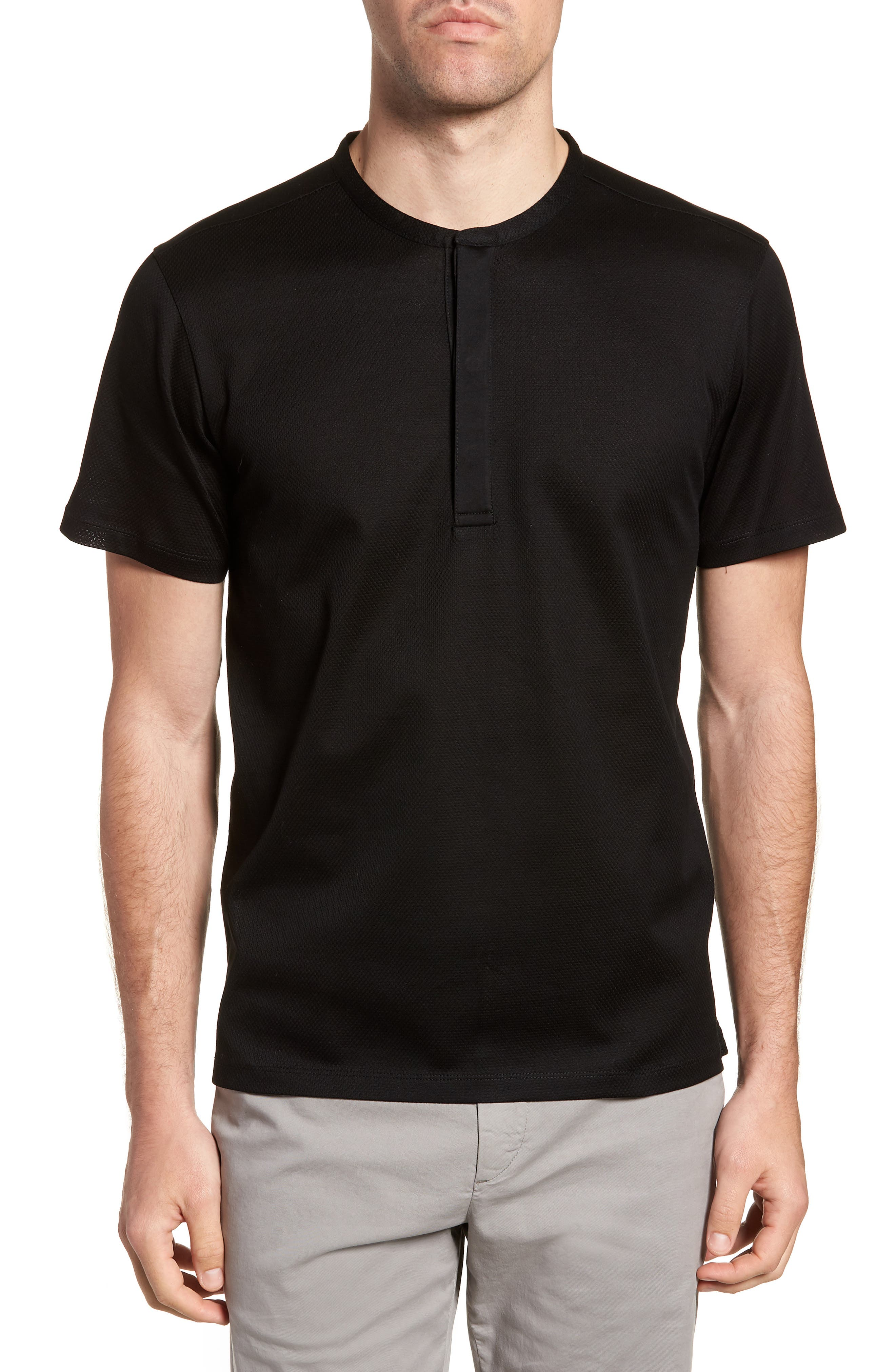 Textured Henley,                         Main,                         color, 001