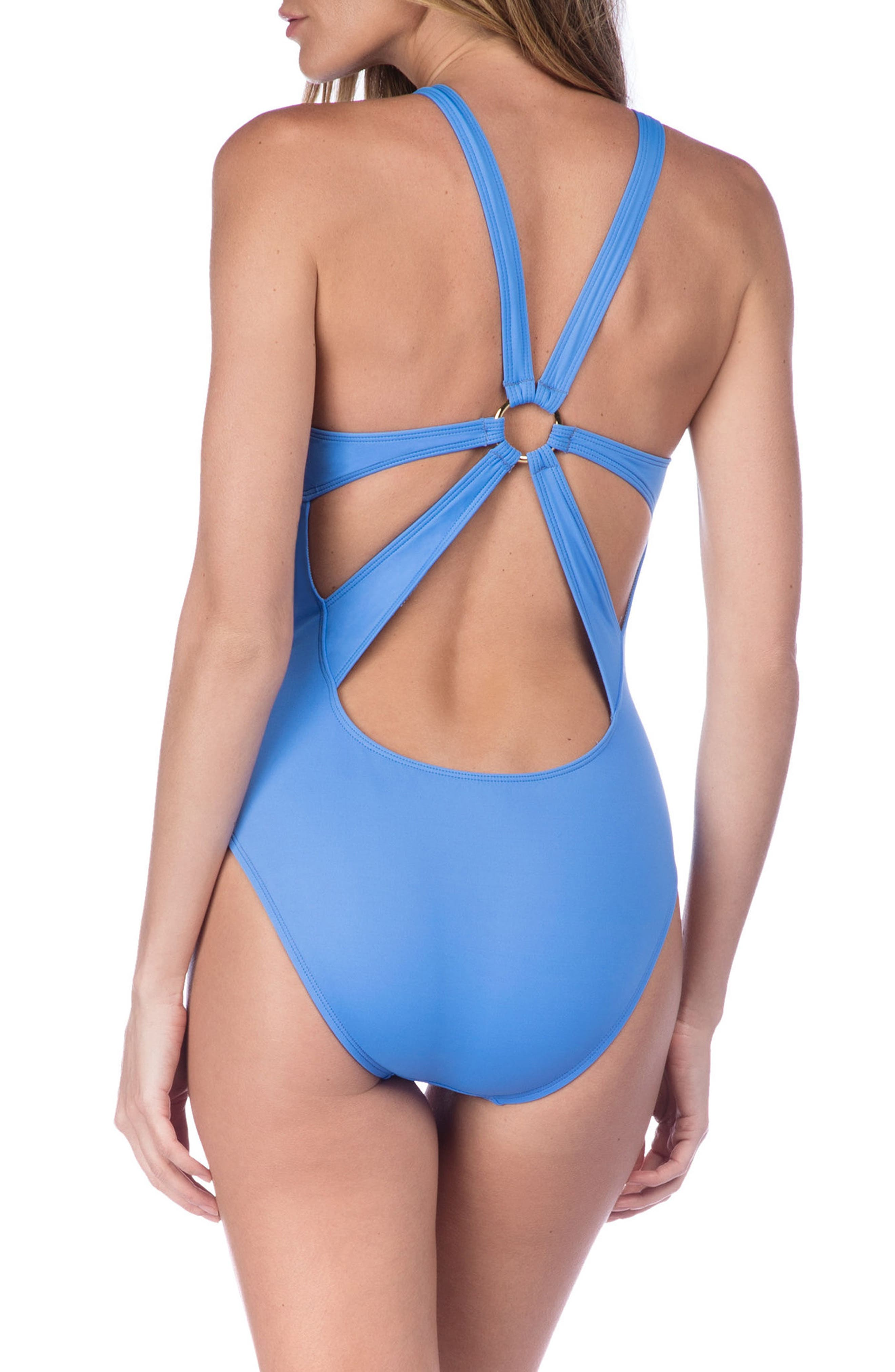 Deco Studded One-Piece Swimsuit,                             Alternate thumbnail 2, color,                             400
